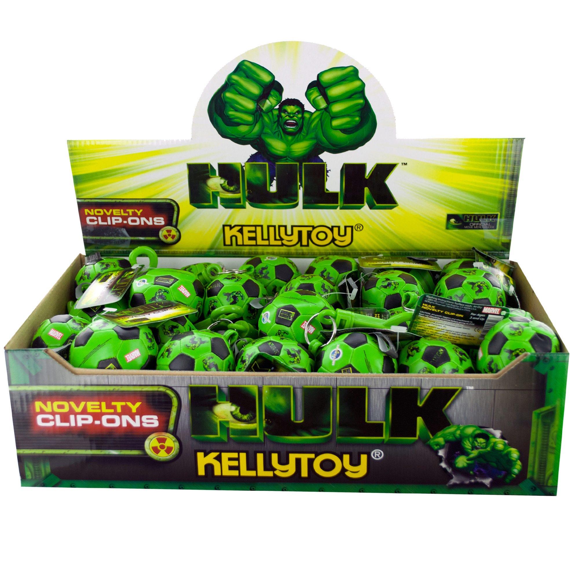 The Incredible Hulk SOCCER Ball Keychain Countertop Display- Qty 48