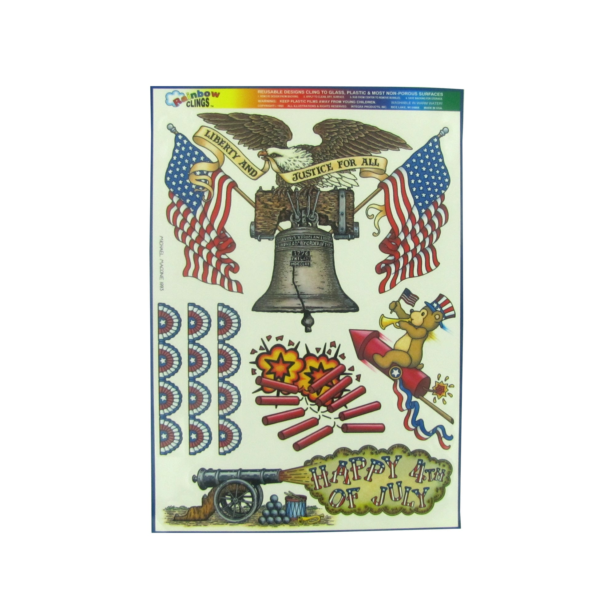 Liberty And Justice Window Clings- Qty 24