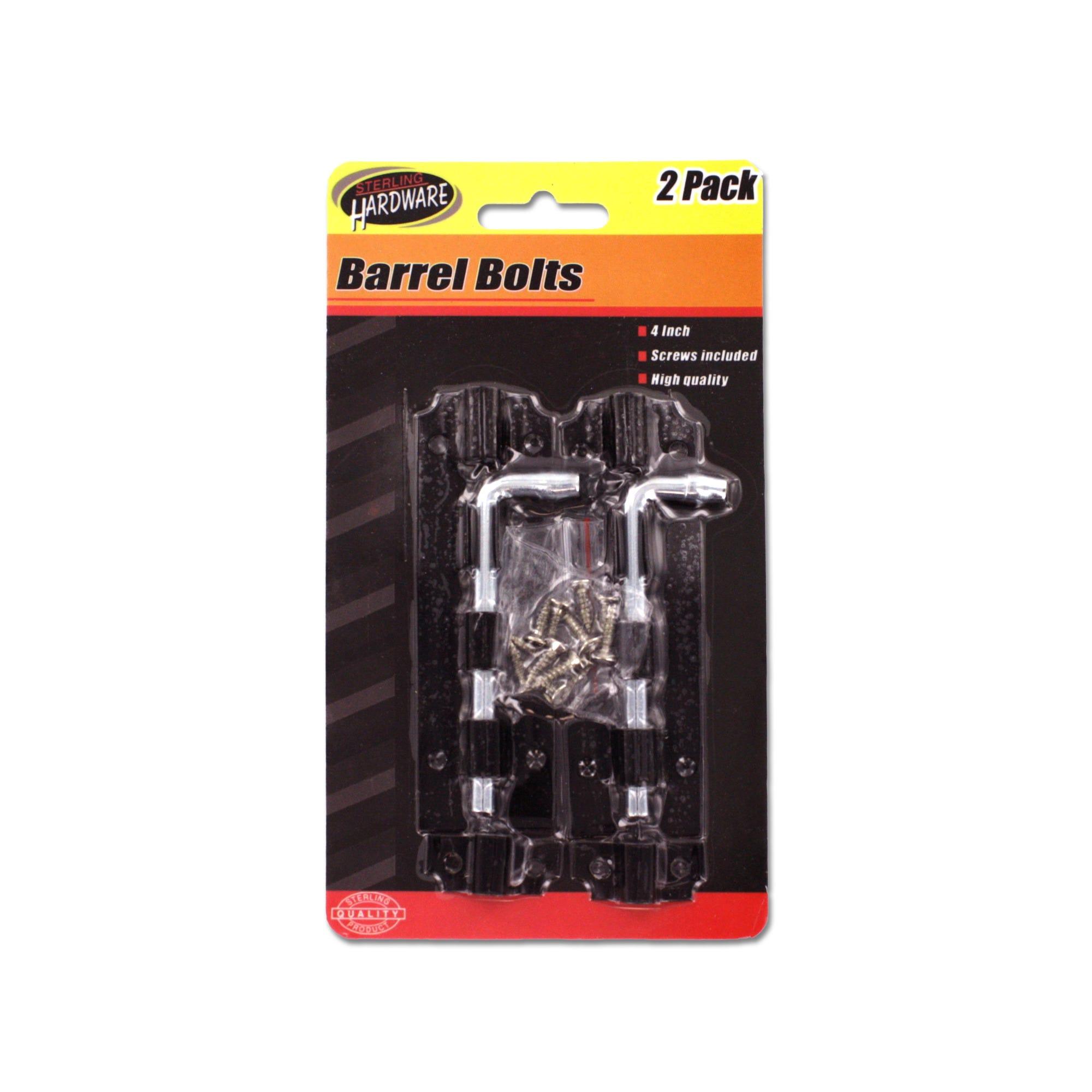 Barrel Bolts with SCREWS- Qty 24