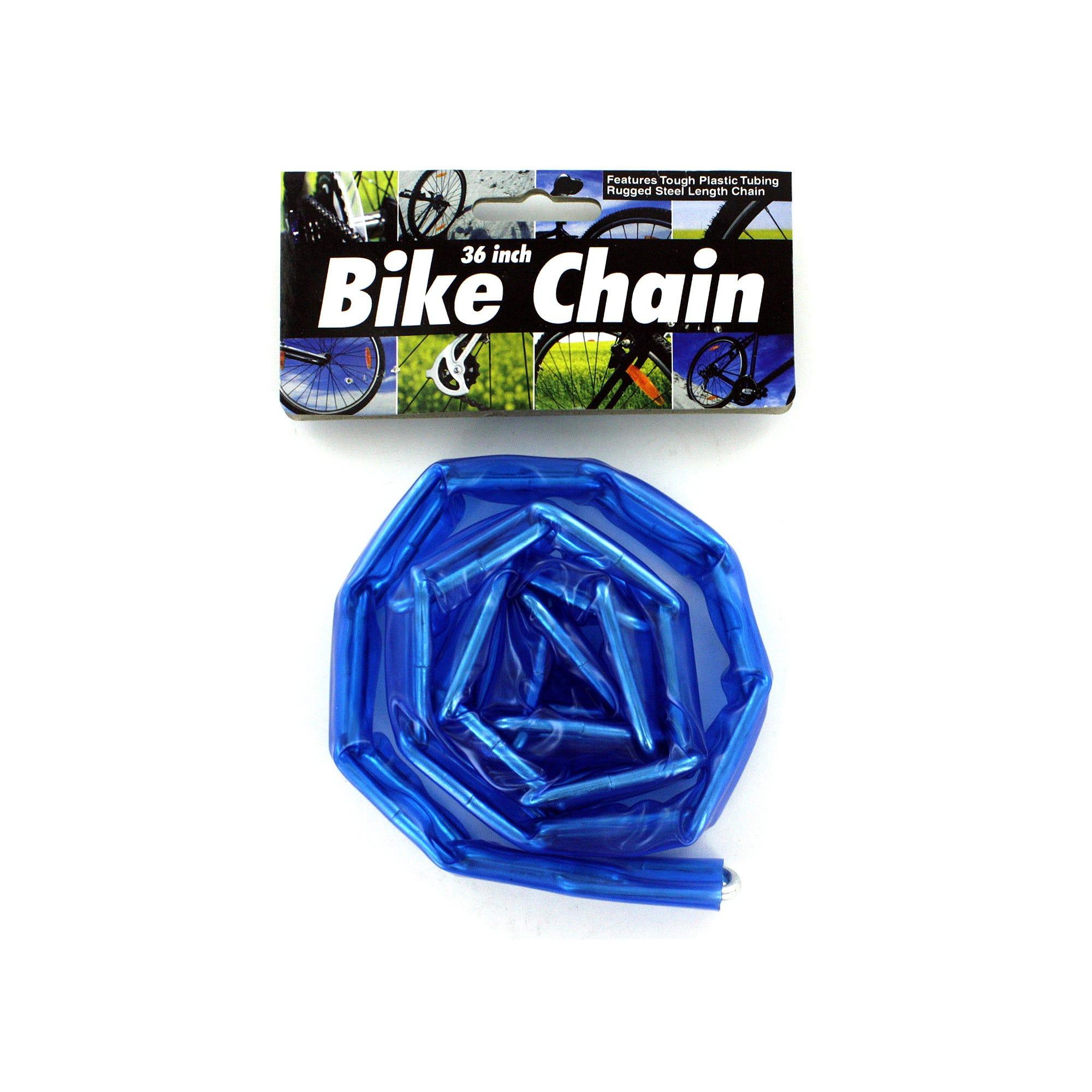 Plastic Coated Bike Chain- Qty 24