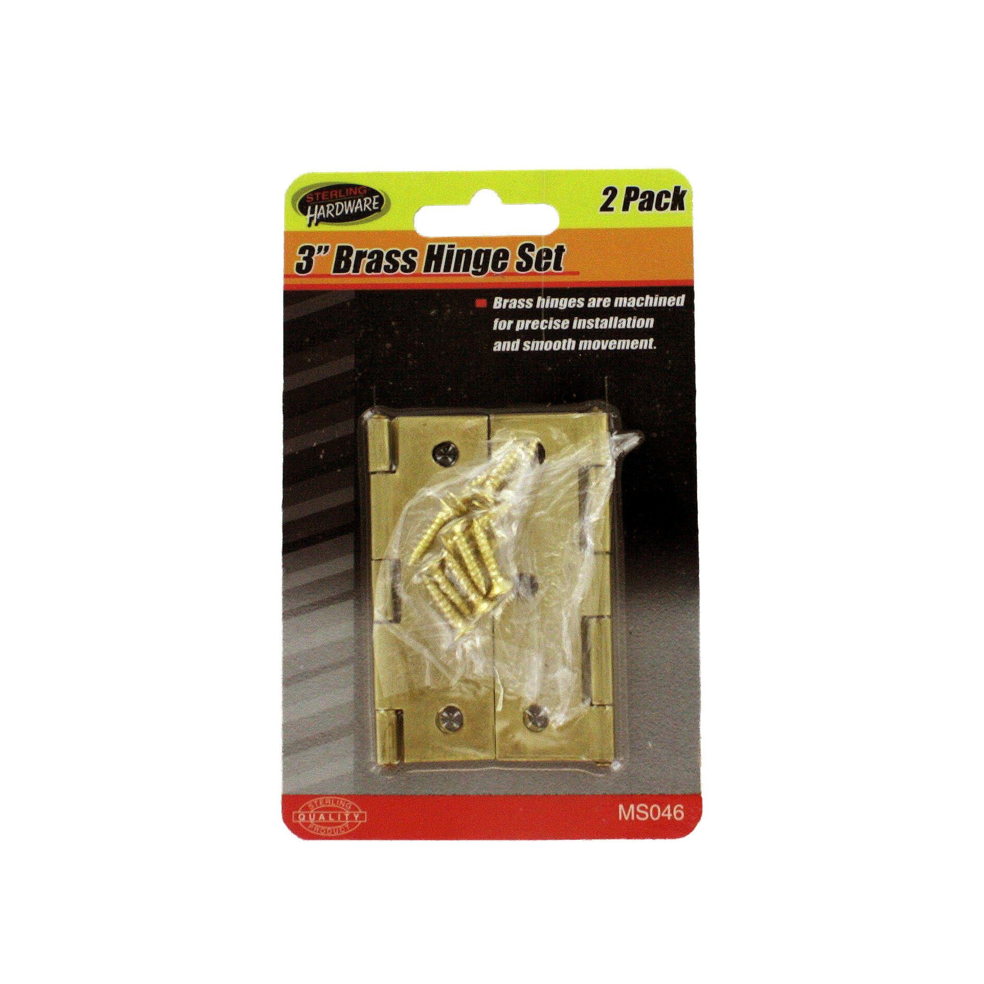 Brass Hinge Set with SCREWS- Qty 24