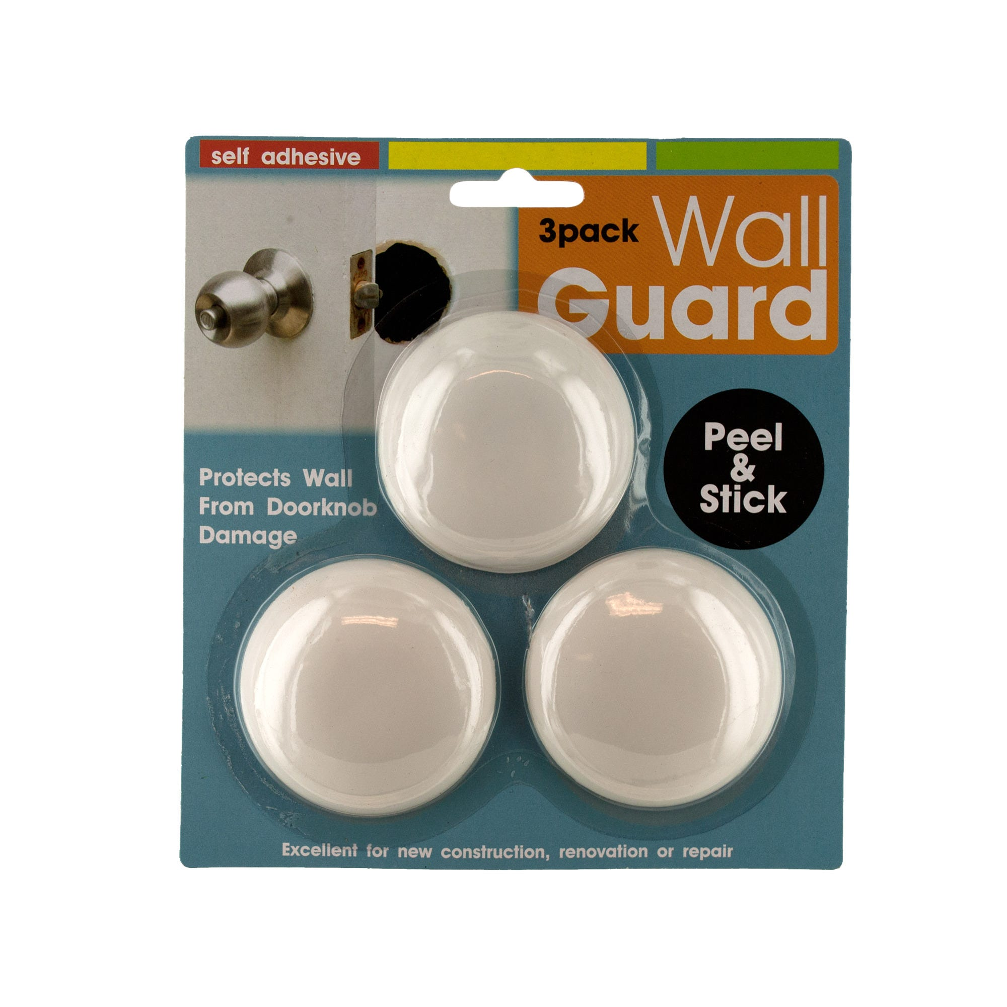 Self-Adhesive DOORKNOB Wall Guard Set- Qty 24
