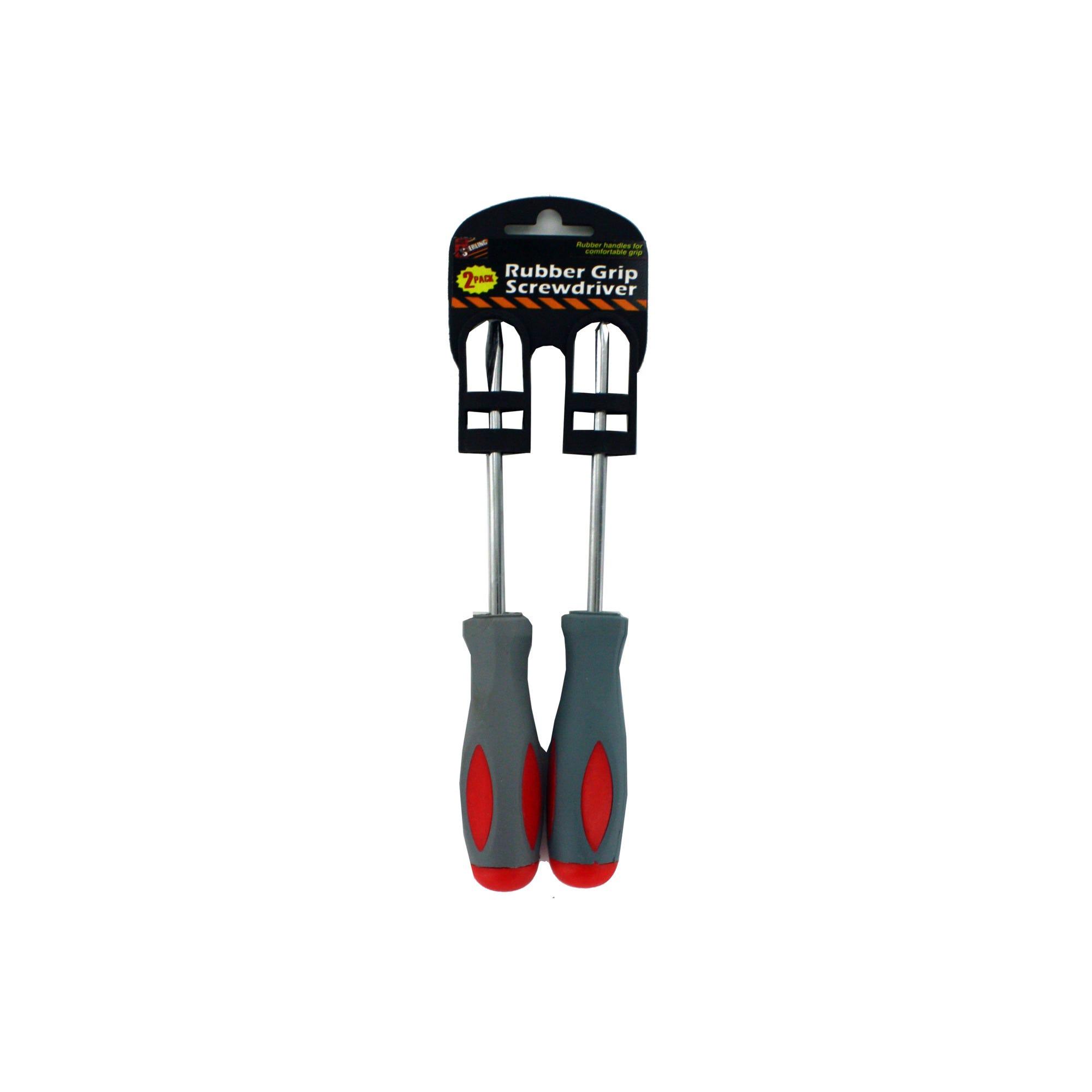 Rubber Grip SCREWDRIVER Set- Qty 22