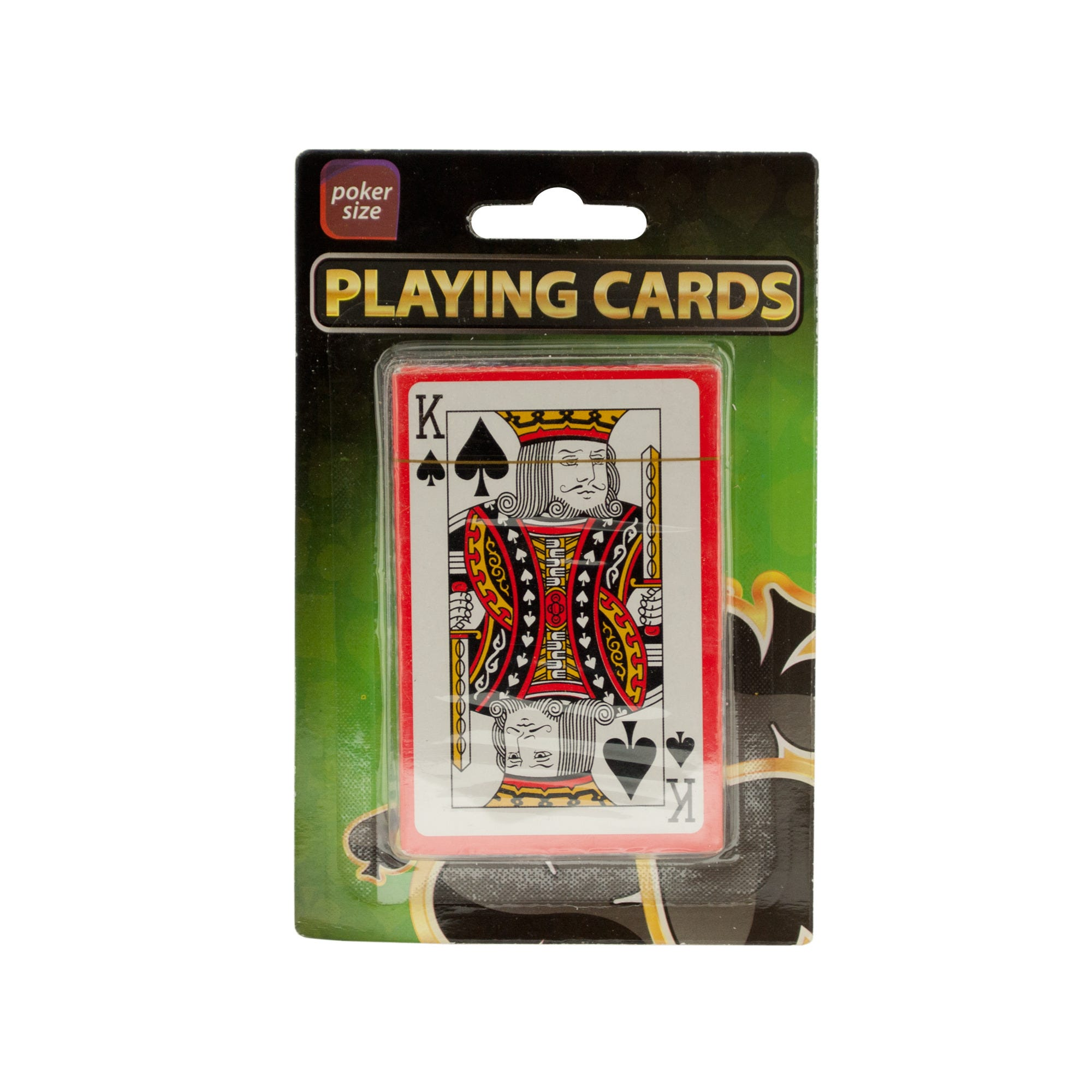 Plastic Coated Poker Size PLAYING CARDS- Qty 24