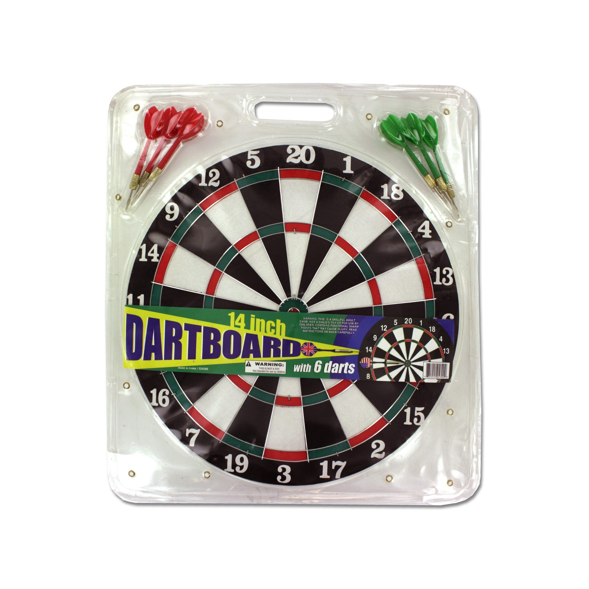 Dartboard with Metal Tip Darts- Qty 4