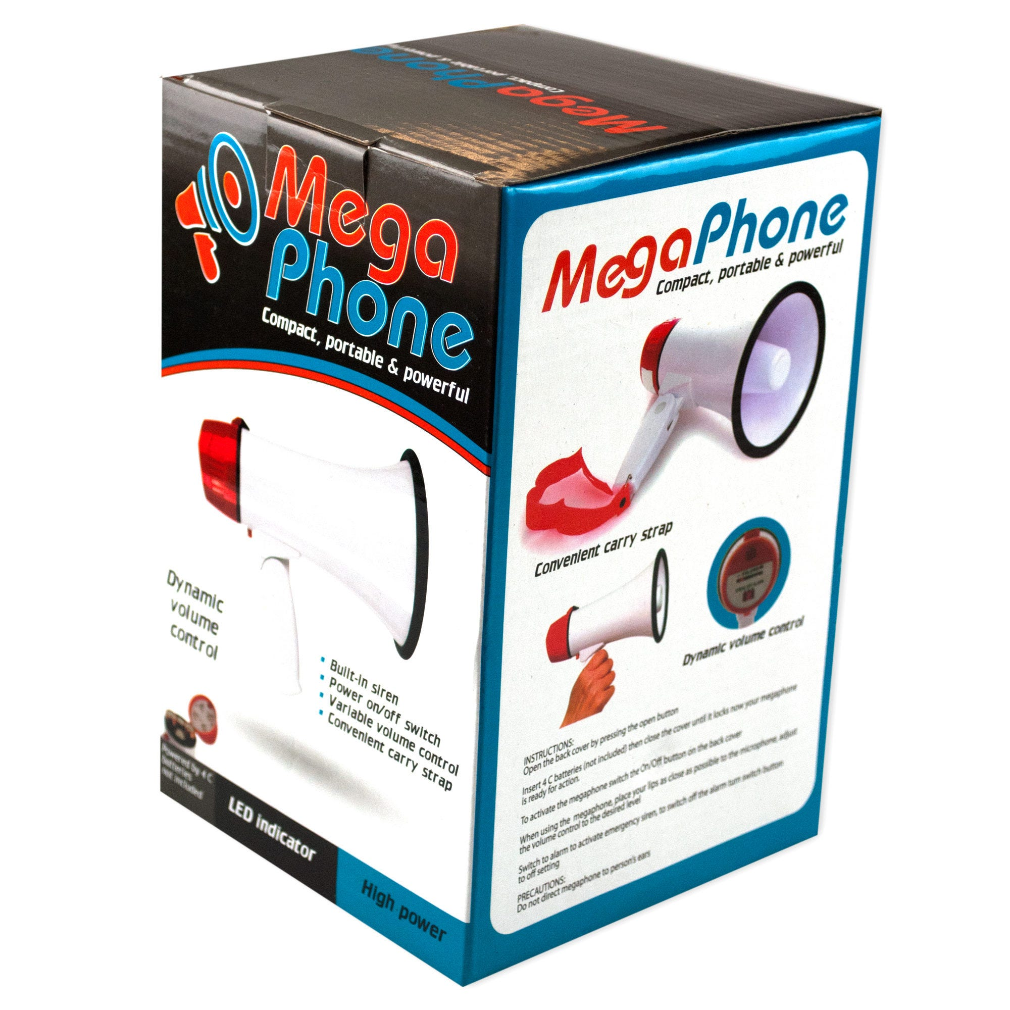 Compact Megaphone with Siren- Qty 4
