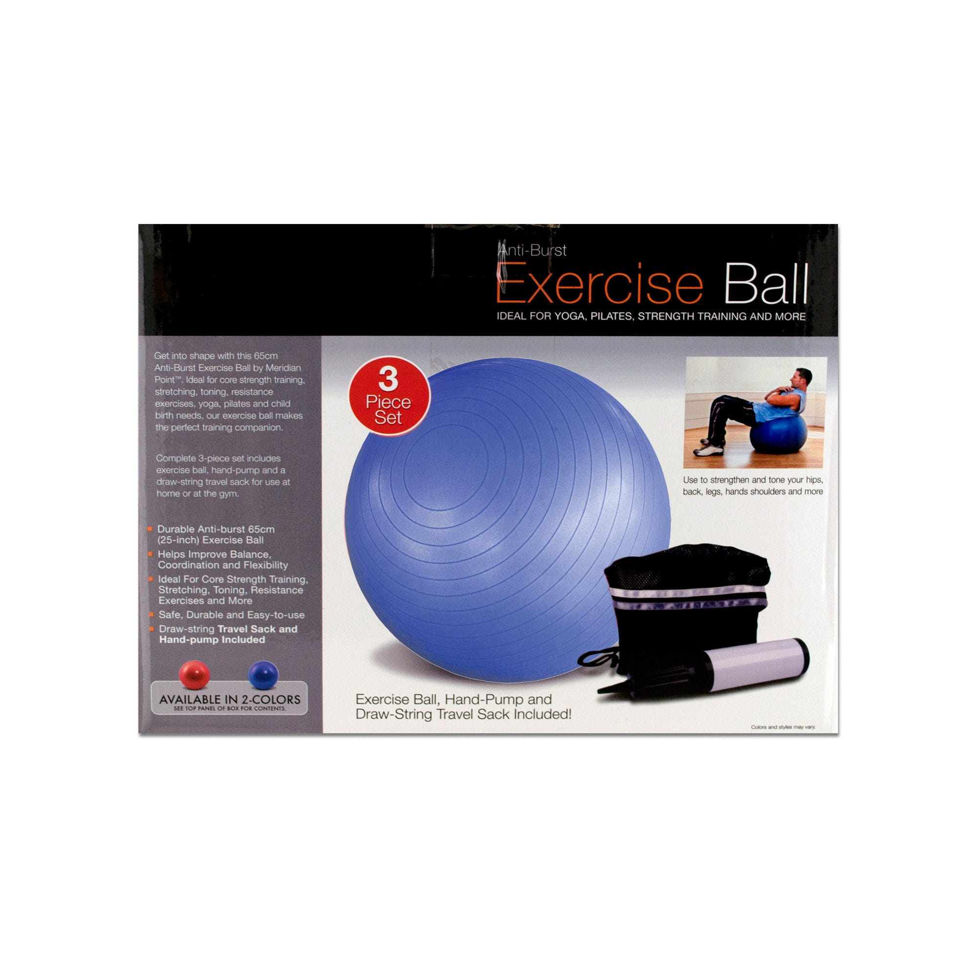Exercise Ball with Pump- Qty 4