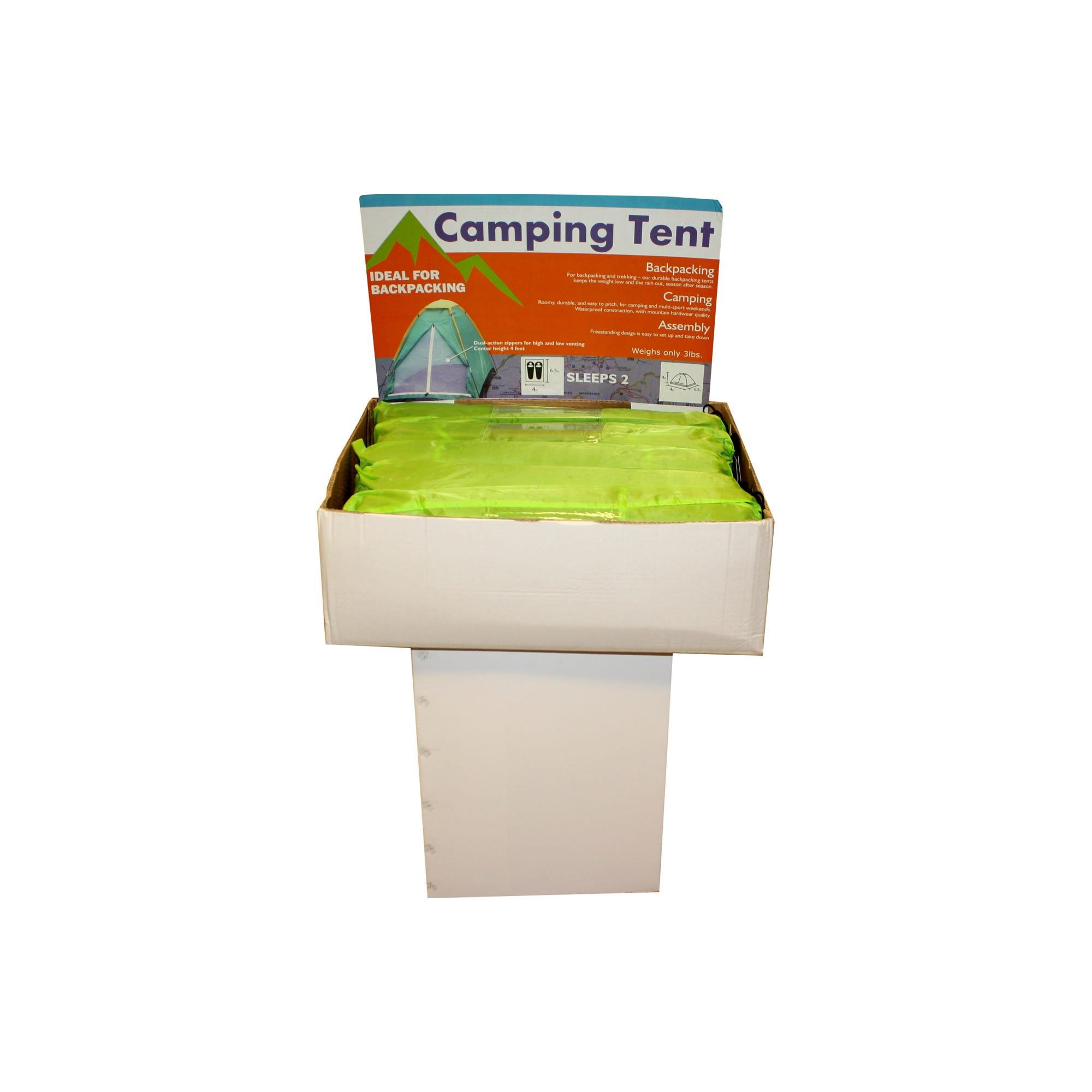 BACKPACKing-tent-display