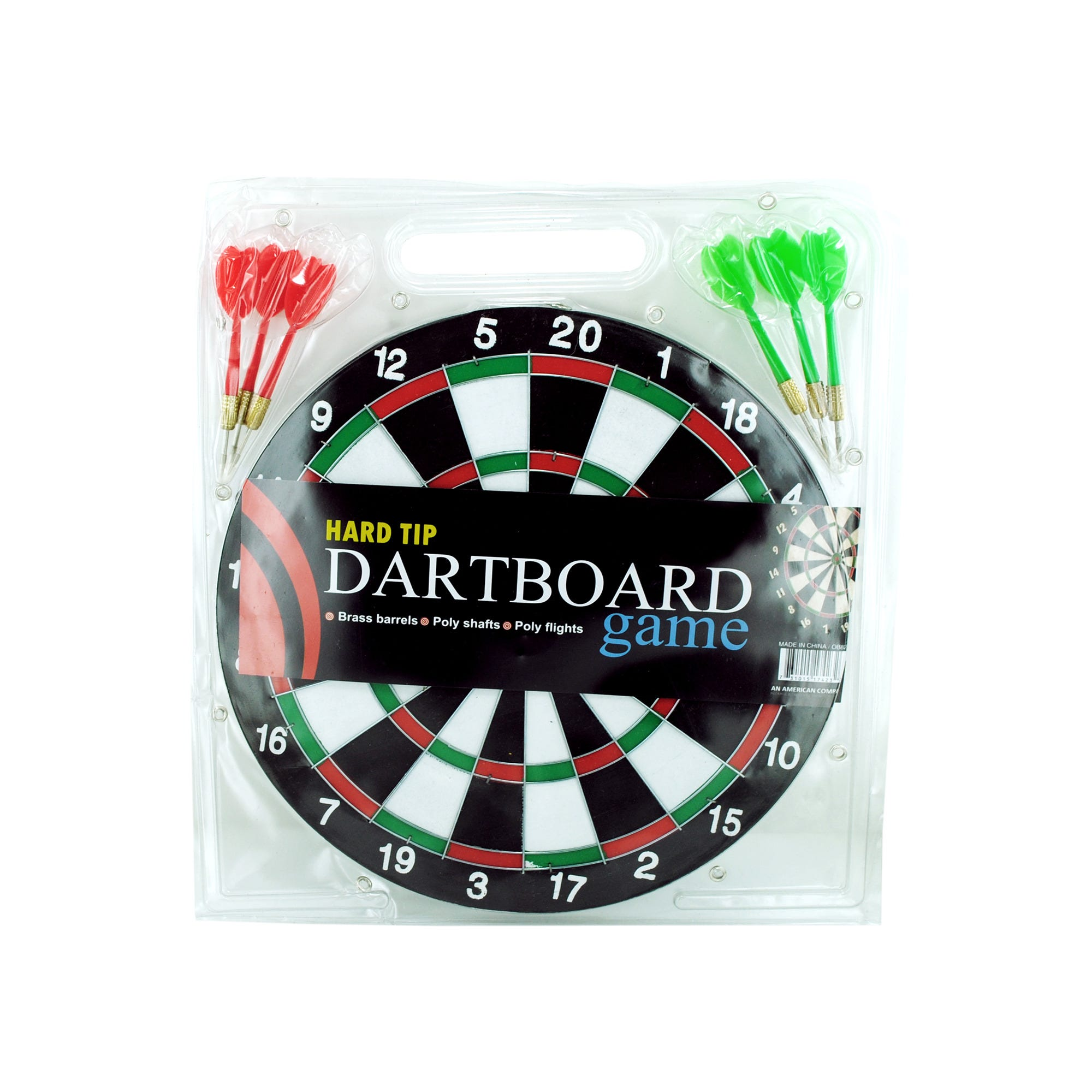 DARTBOARD Game with Hard Tip Darts- Qty 8