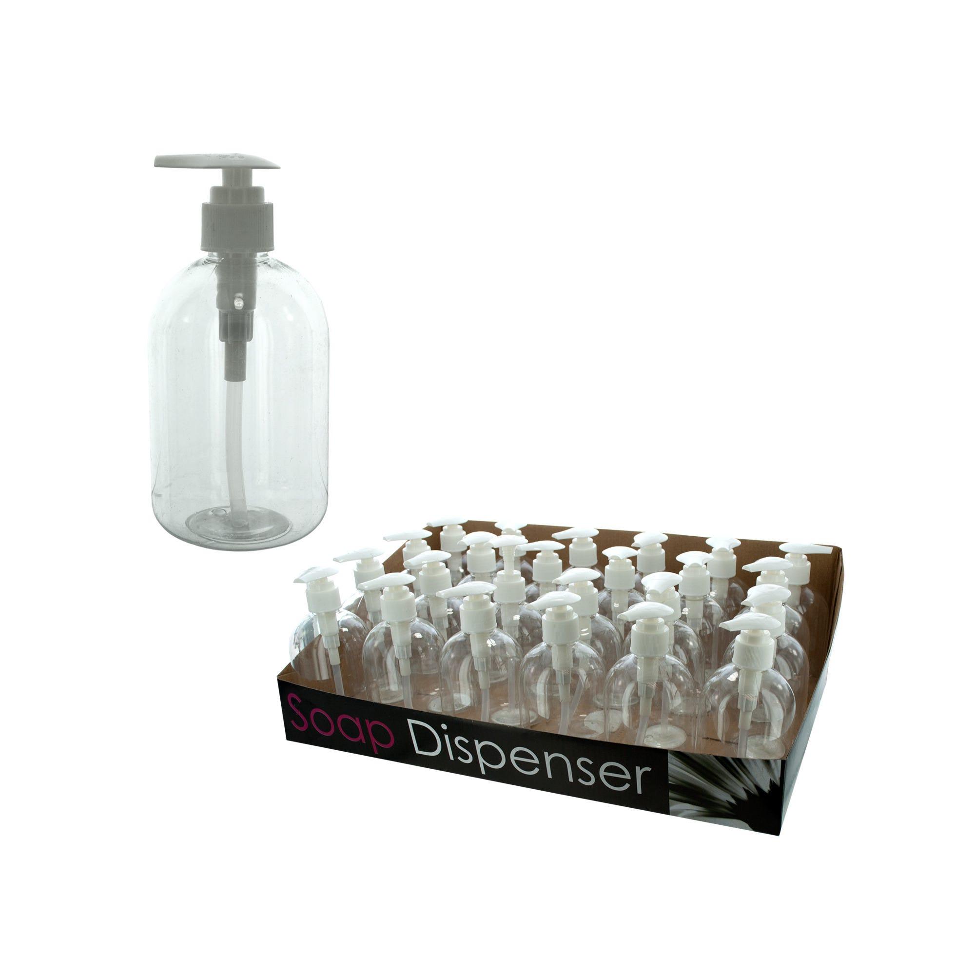 10 oz. SOAP Dispenser Bottle Countertop Display- Qty 24