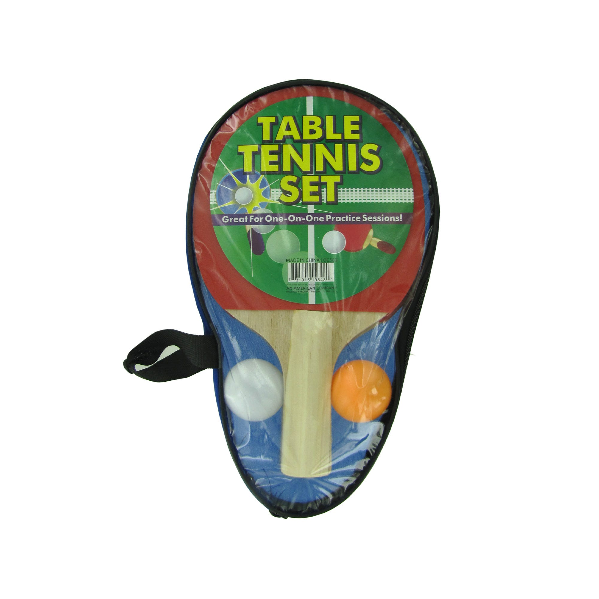 Portable Table Tennis Set in Carrying Case- Qty 8