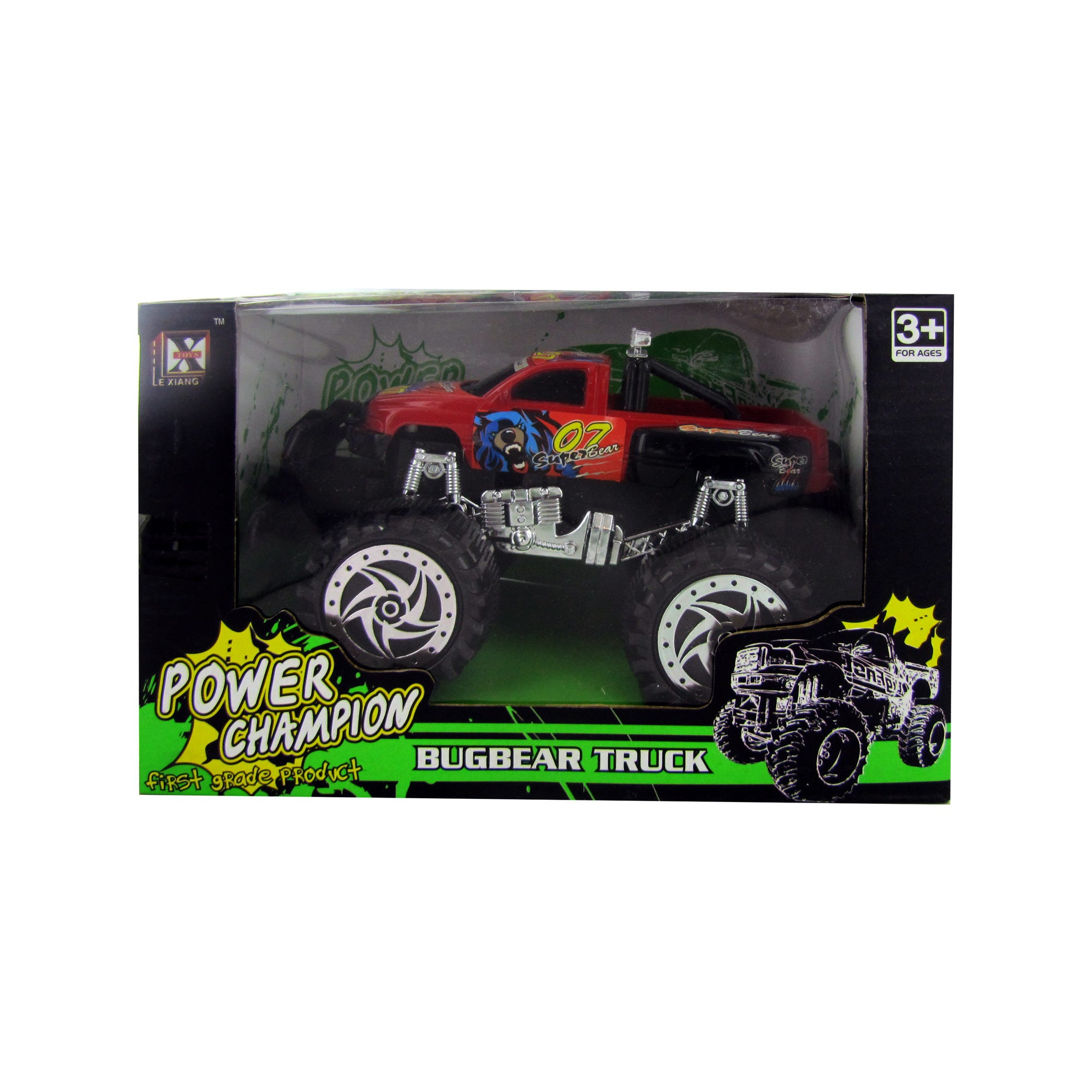 Friction Big Wheel Super Power Pickup TRUCK- Qty 8