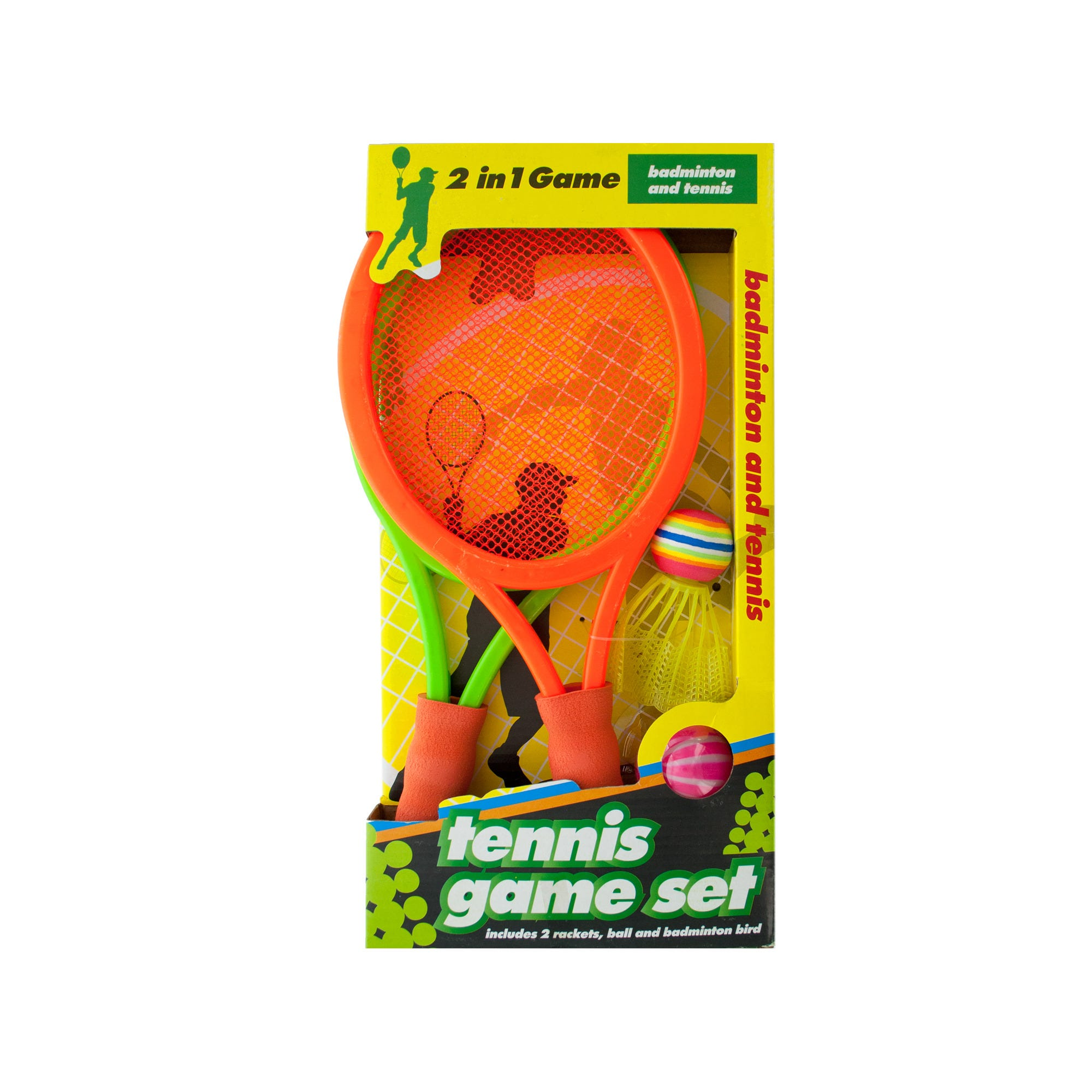 Game on closeouts sporting goods - 2 In 1 Badminton And Tennis Game Set