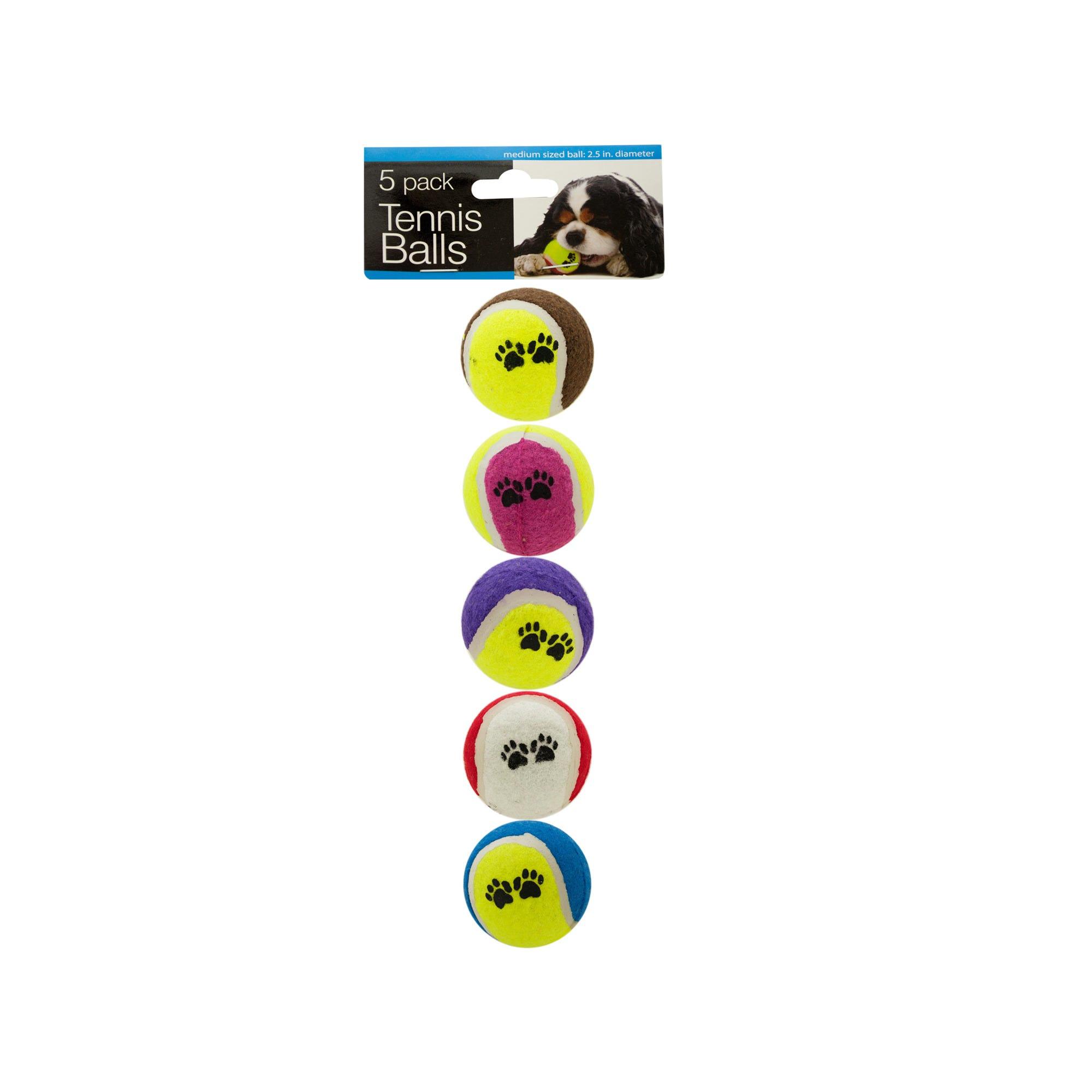 Medium Size Dog TENNIS BALLS Set- Qty 8
