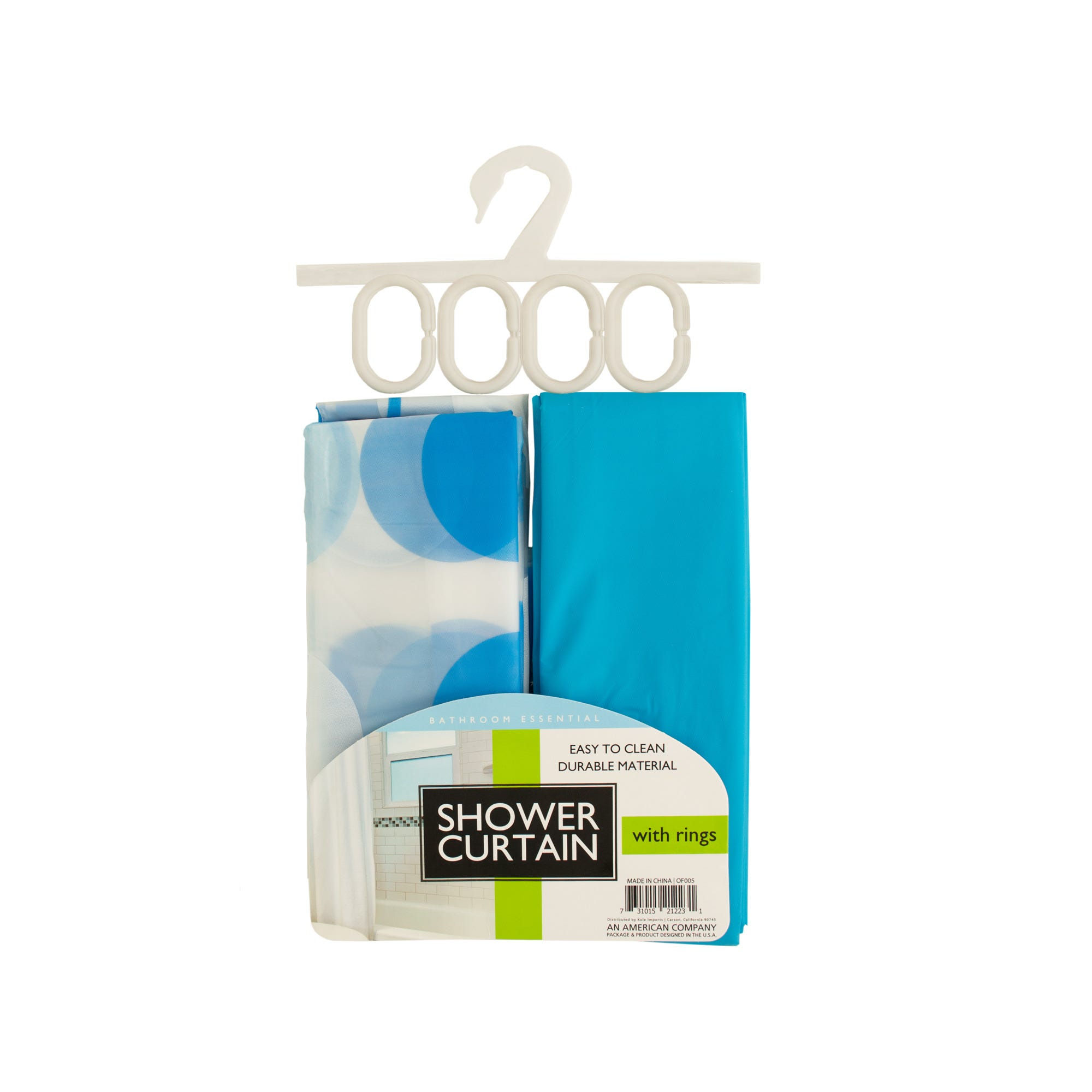 Shower Curtains & RINGs Set- Qty 6