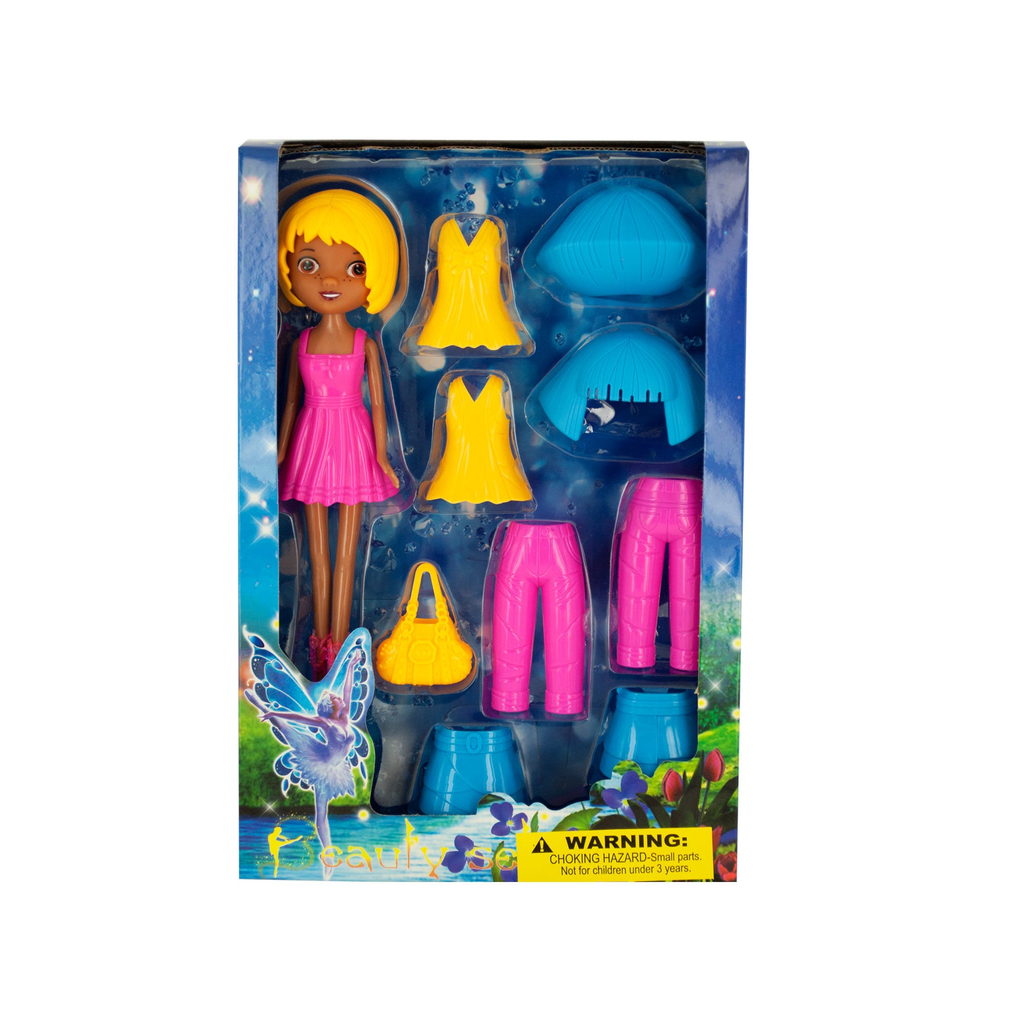 Fairy Fashion Doll with Clip-On CLOTHING & Accessories- Qty 4