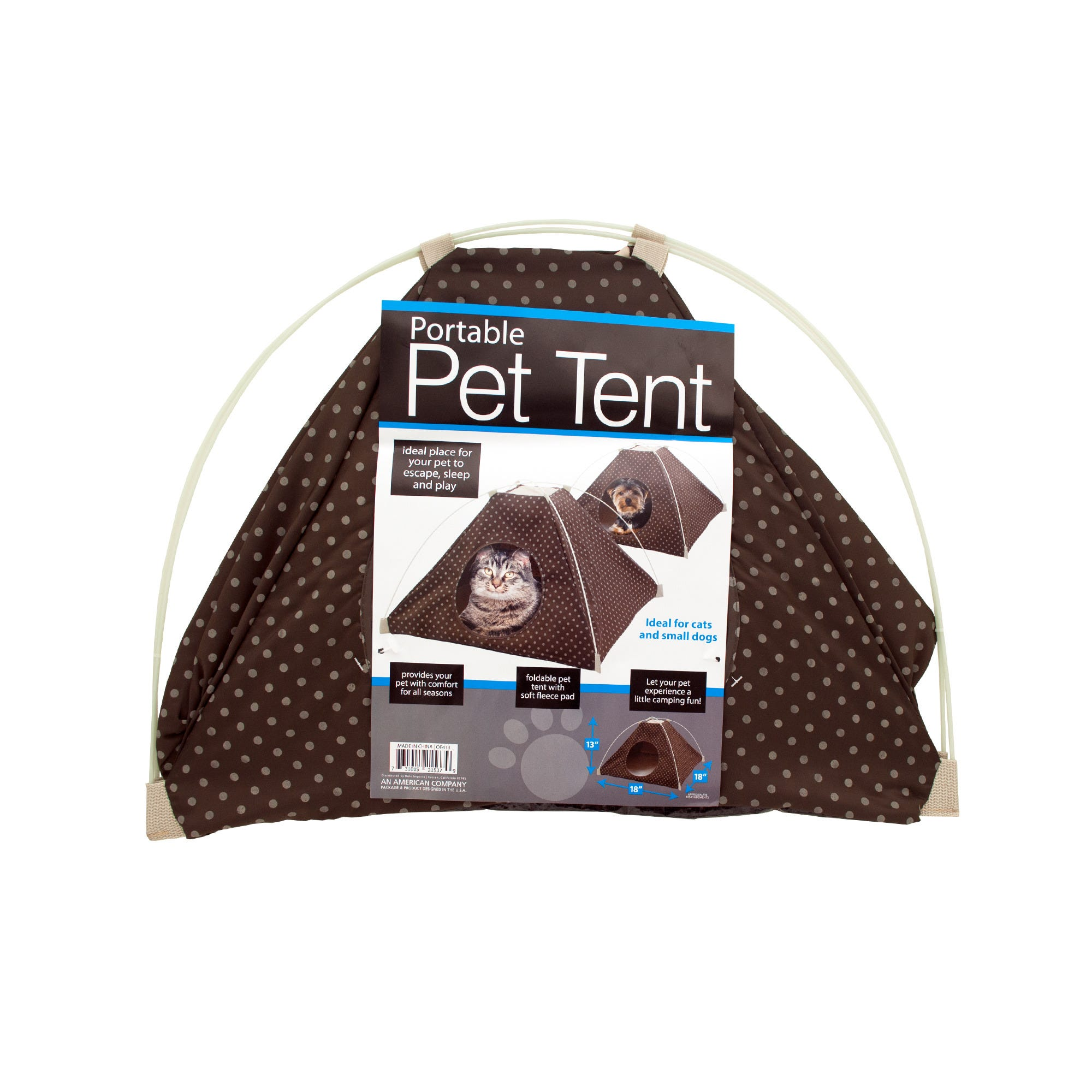 Portable Pet TENT with Soft Fleece Pad- Qty 4