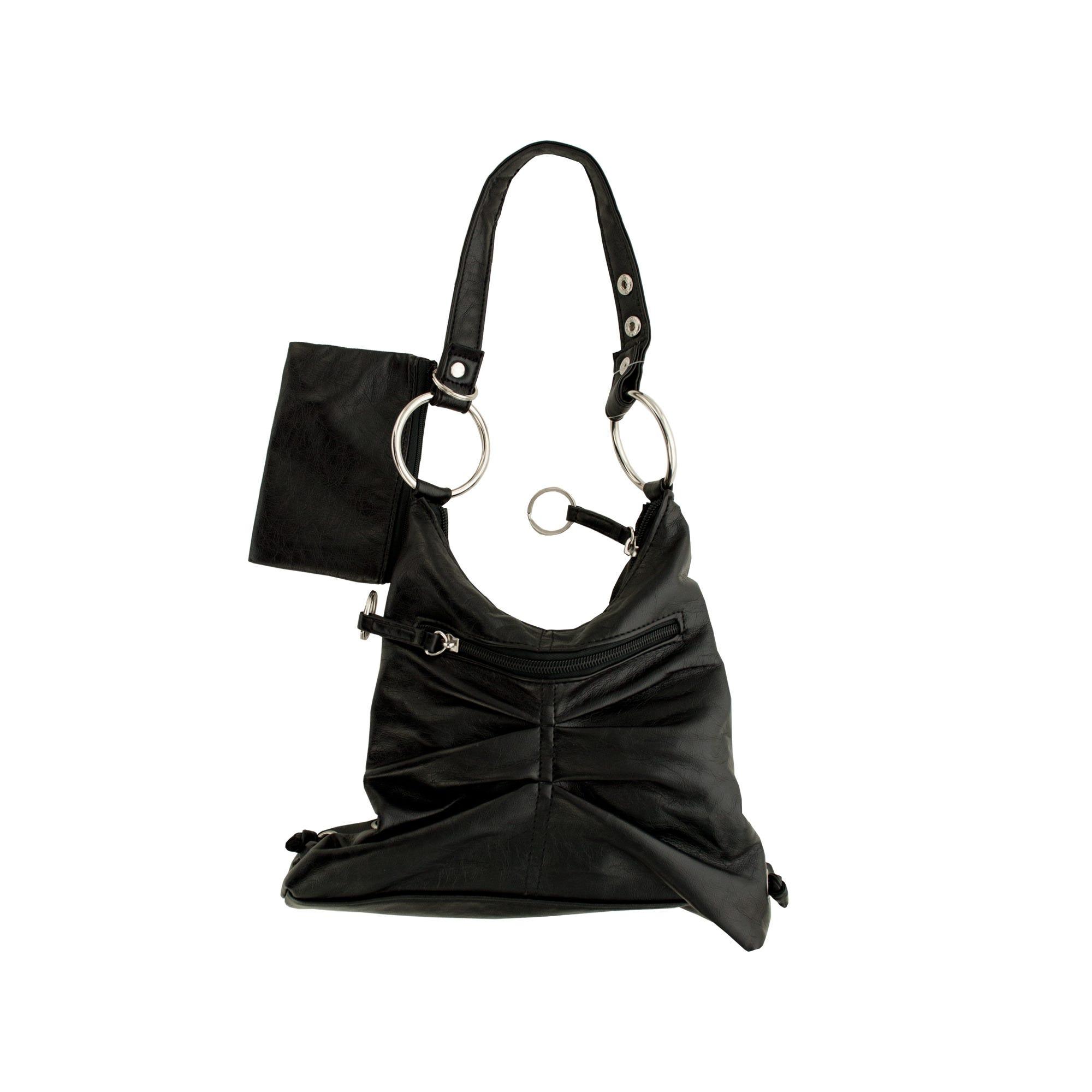 Black HANDBAG with Zipper Case- Qty 8
