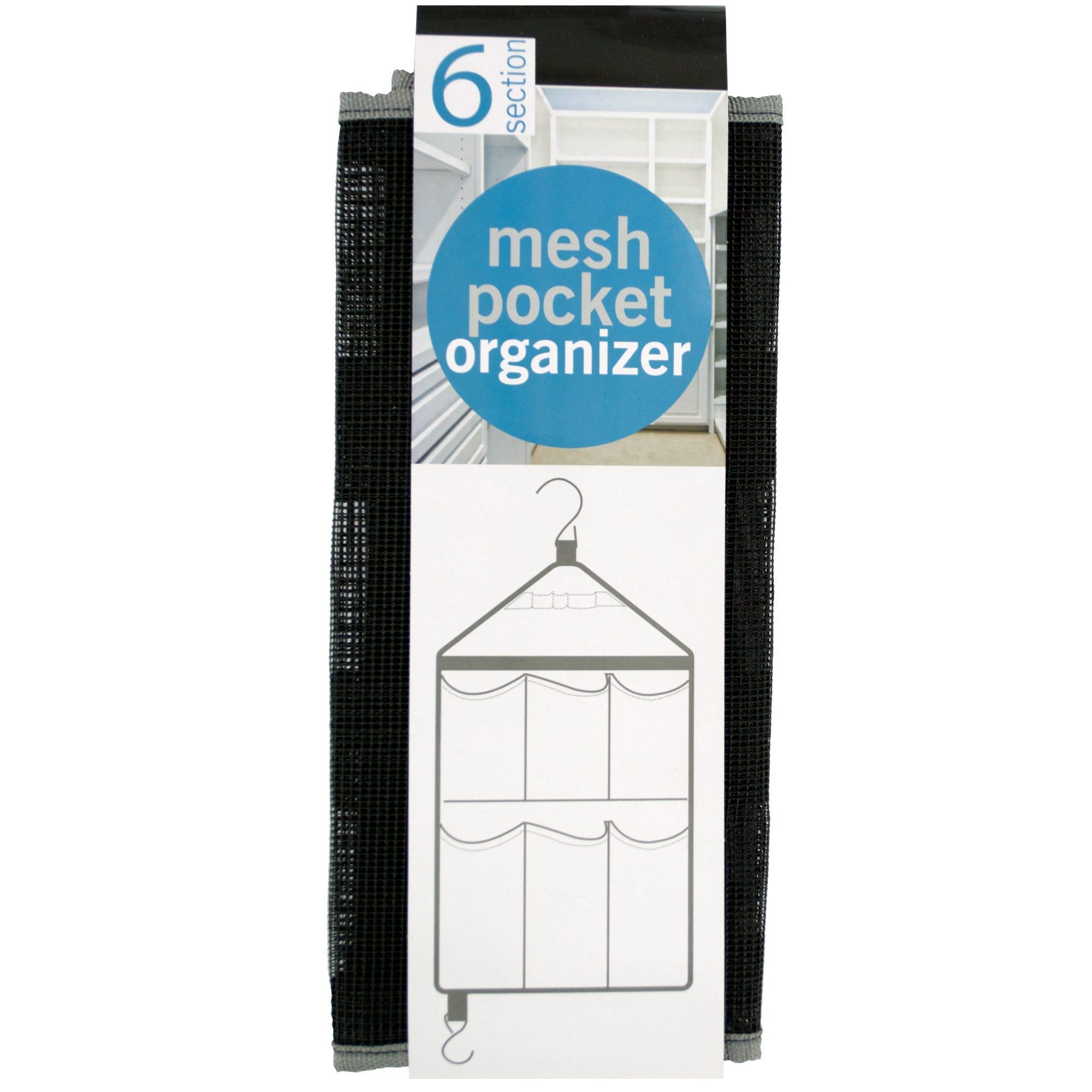 Six Pocket Hanging Mesh Organizer- Qty 8