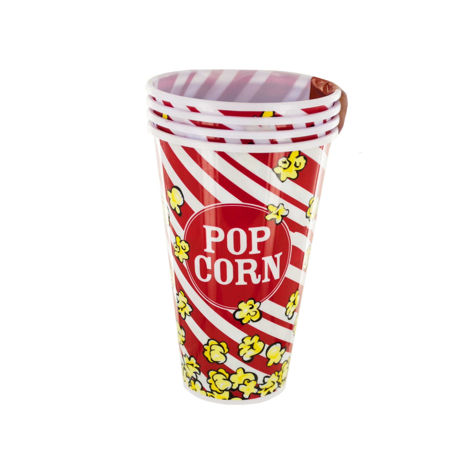 33 oz. Red Popcorn Bucket Cups Set- Qty 18