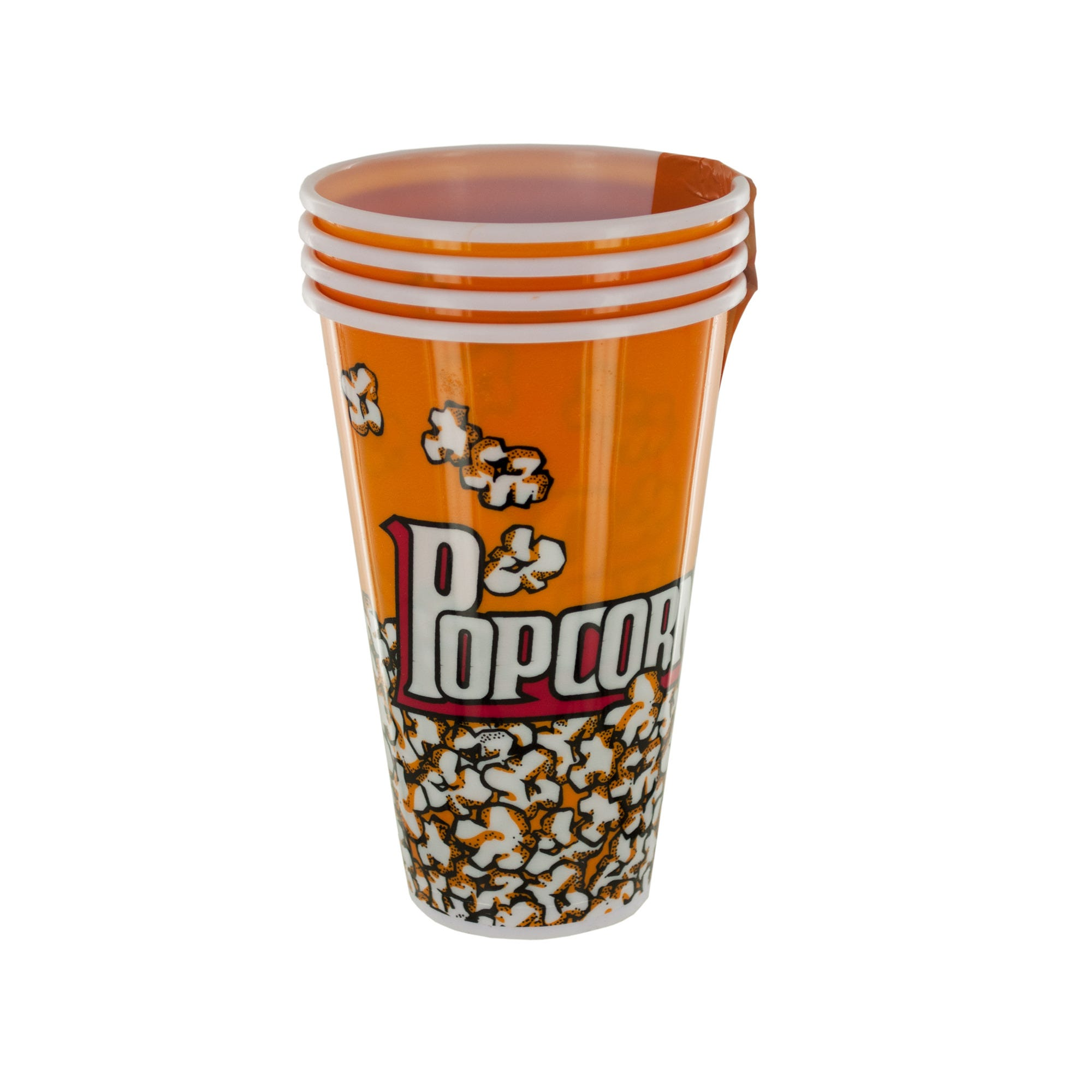 Yellow Popcorn Bucket Cups Set- Qty 18