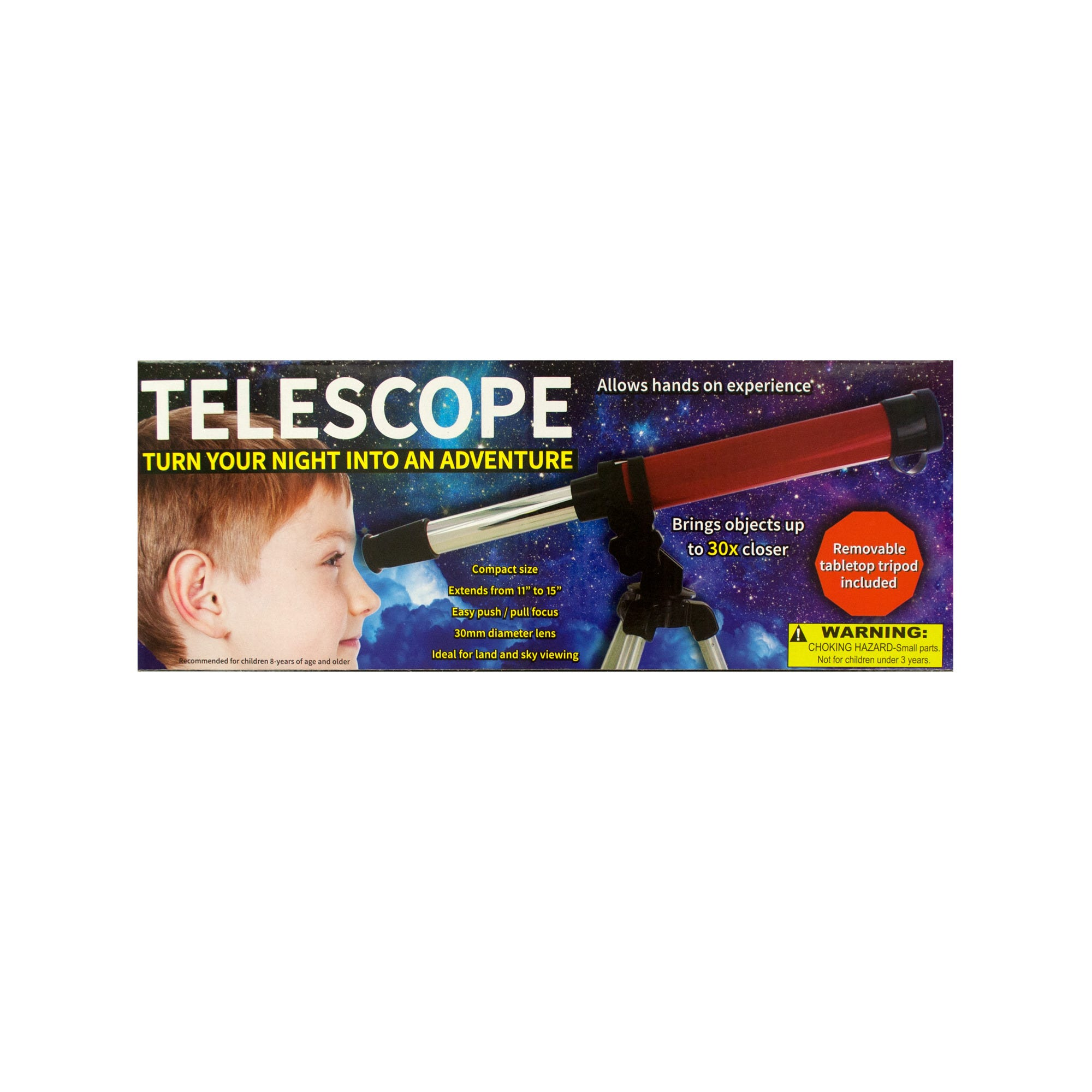 Compact Telescope with Tabletop Tripod- Qty 4