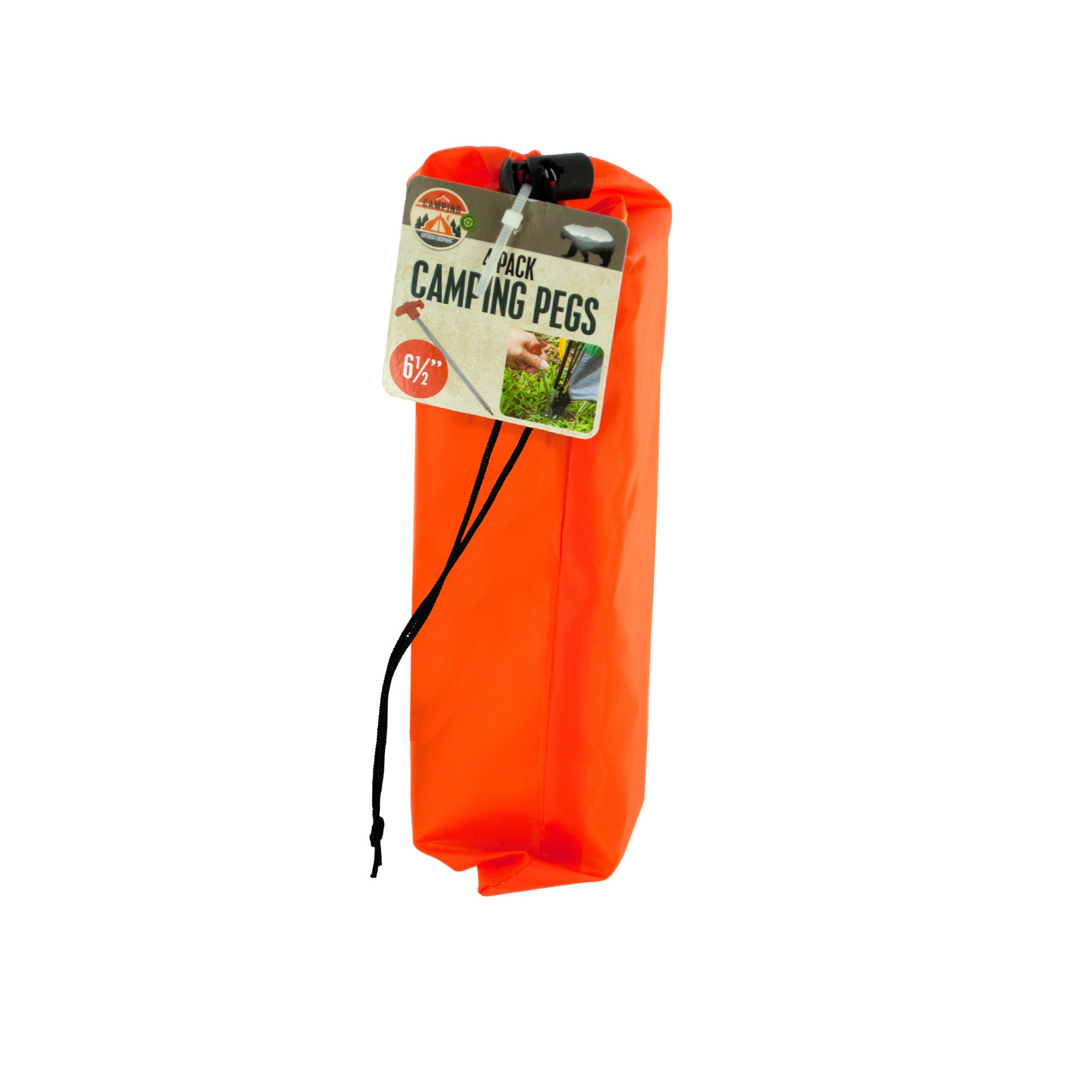 Camping Pegs Set with Carrying Bag- Qty 22