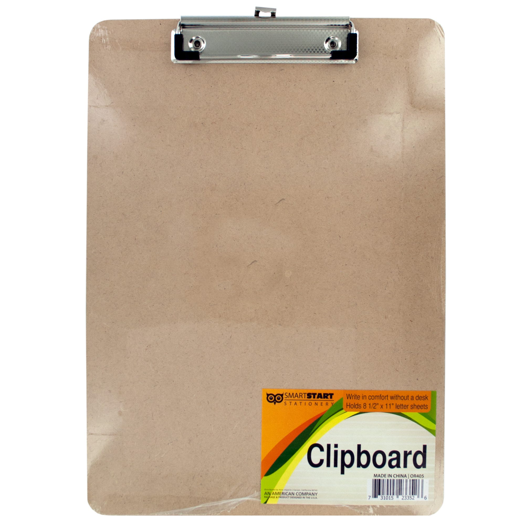 Wooden Clipboard with Metal Clip- Qty 22