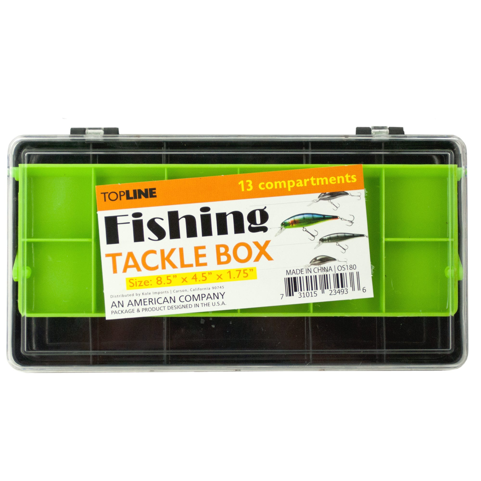 Multi-Level FISHING TACKLE Box- Qty 18