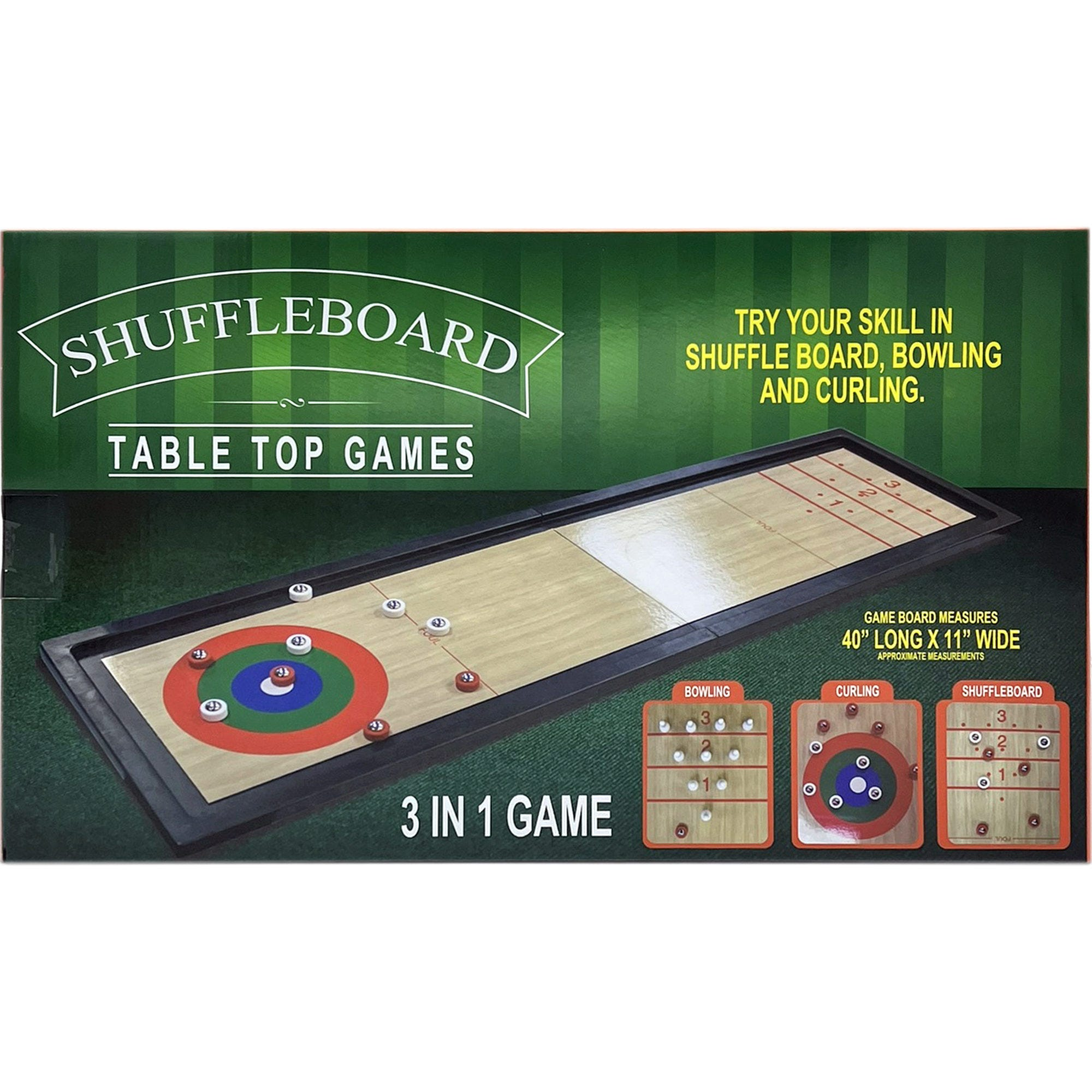 3 In 1 Shuffleboard Table Top Game- Qty 2