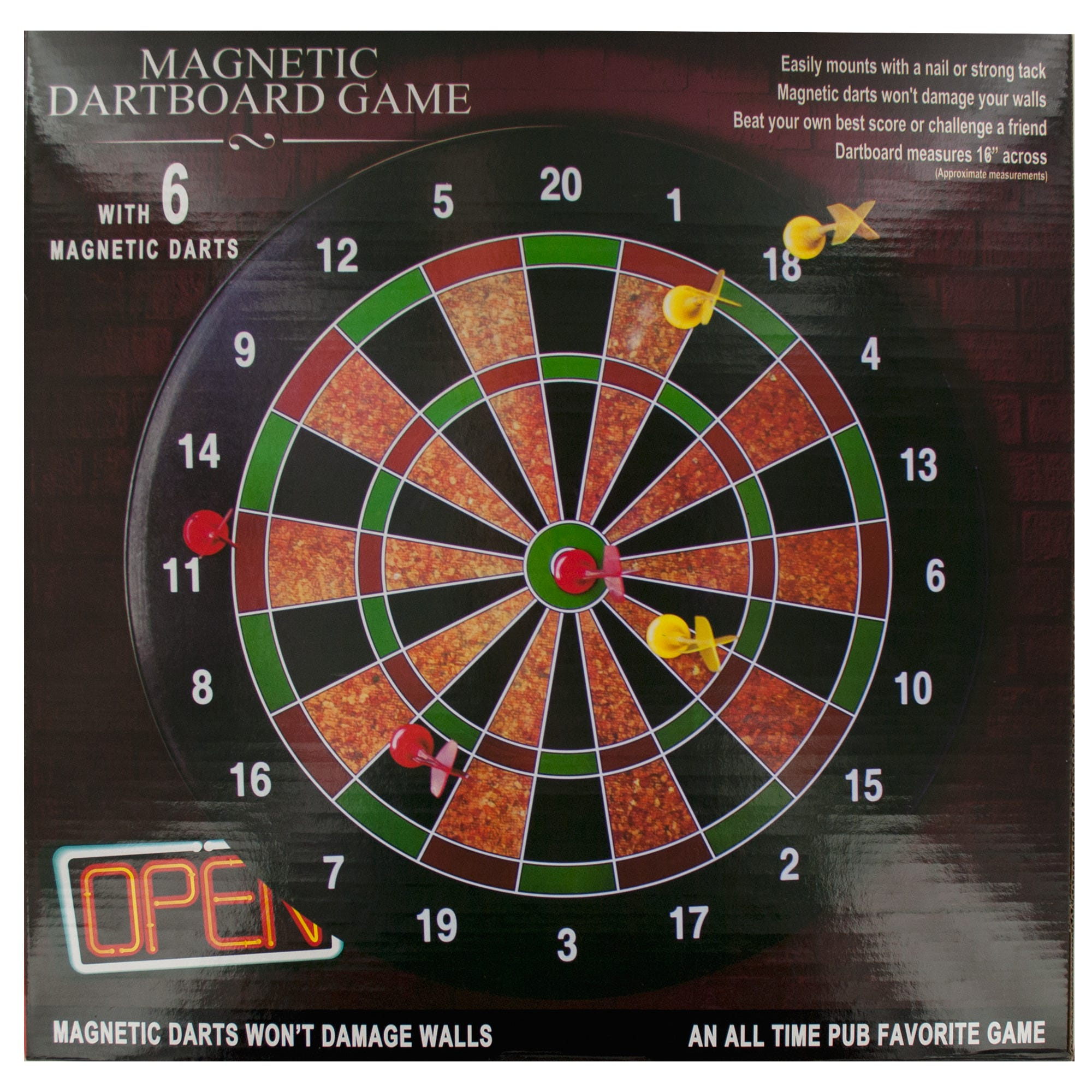 Magnetic DARTBOARD Game- Qty 4