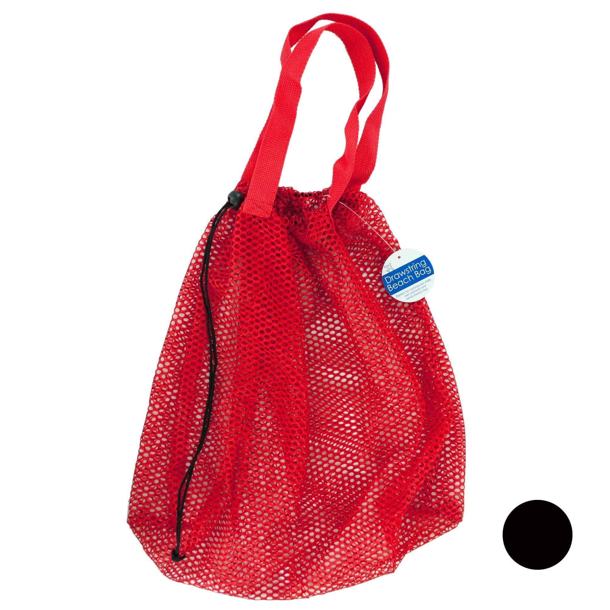 Mesh Drawstring BEACH BAG - Qty 12