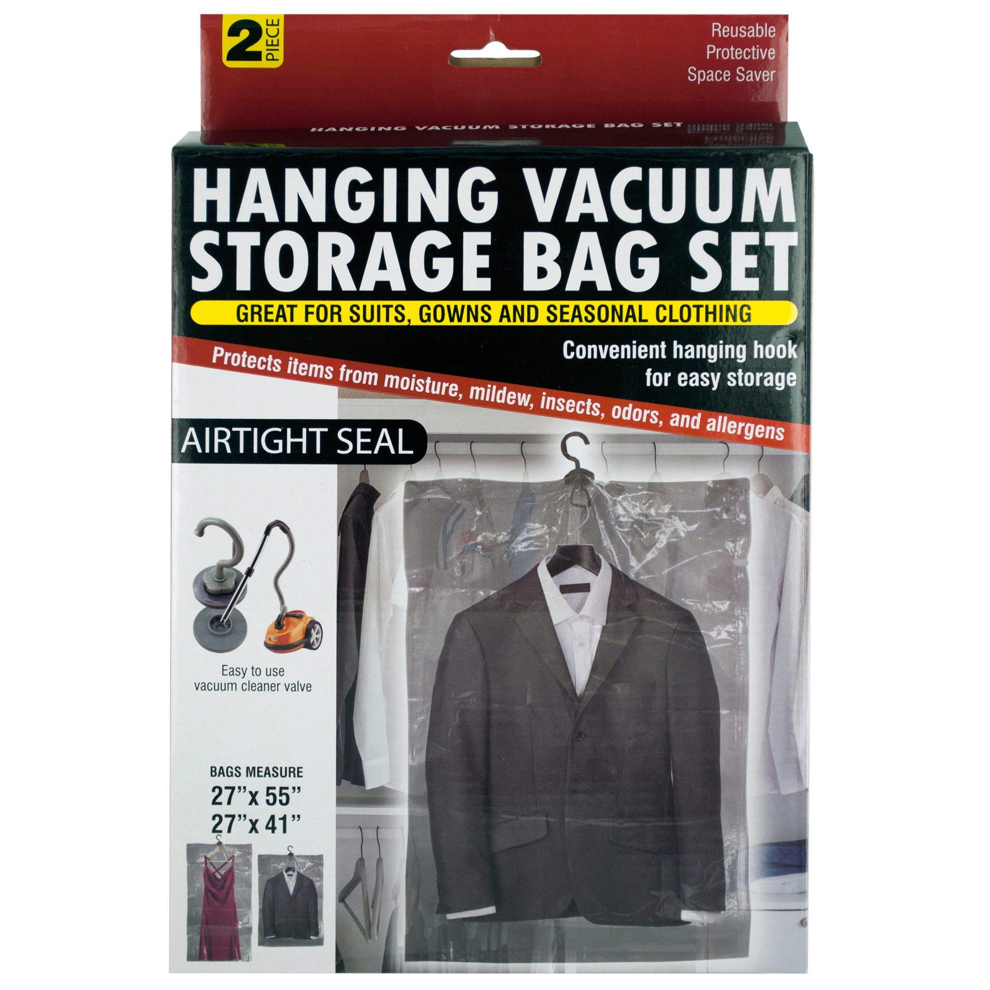Hanging Vacuum Storage Bag Set- Qty 6