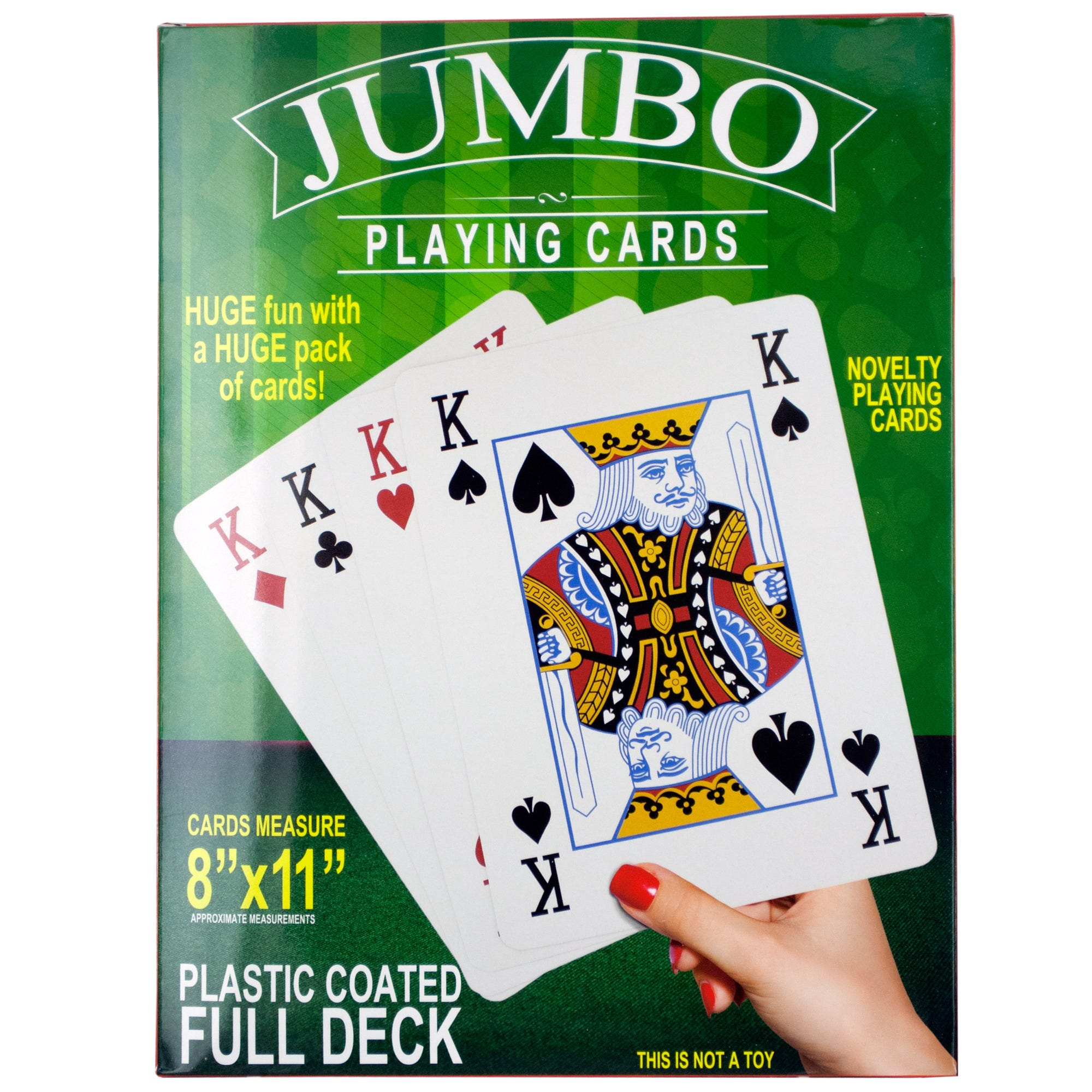 Jumbo Novelty PLAYING CARDS- Qty 4
