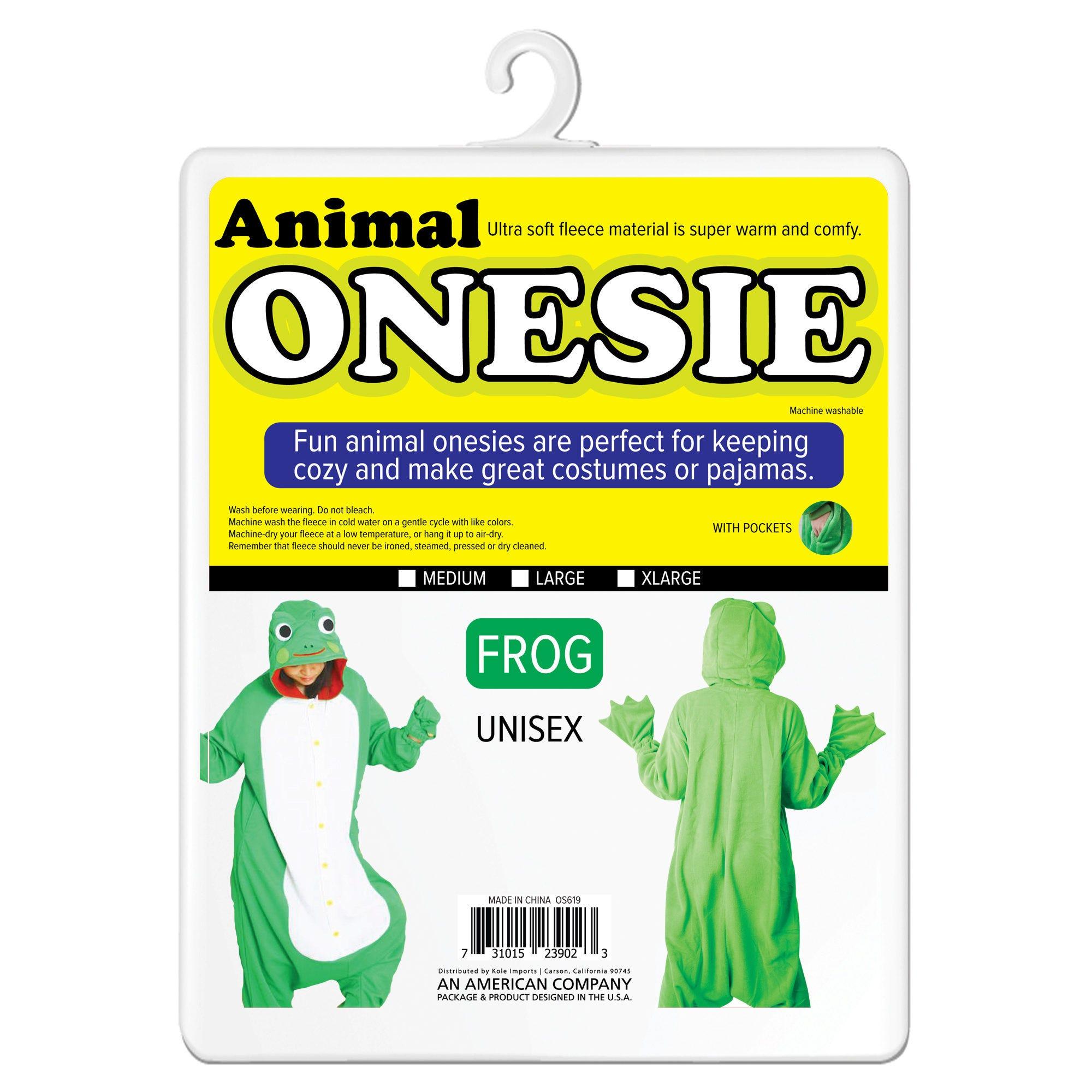 Bee & Frog Adult Unisex Animal Onesie- Qty 2