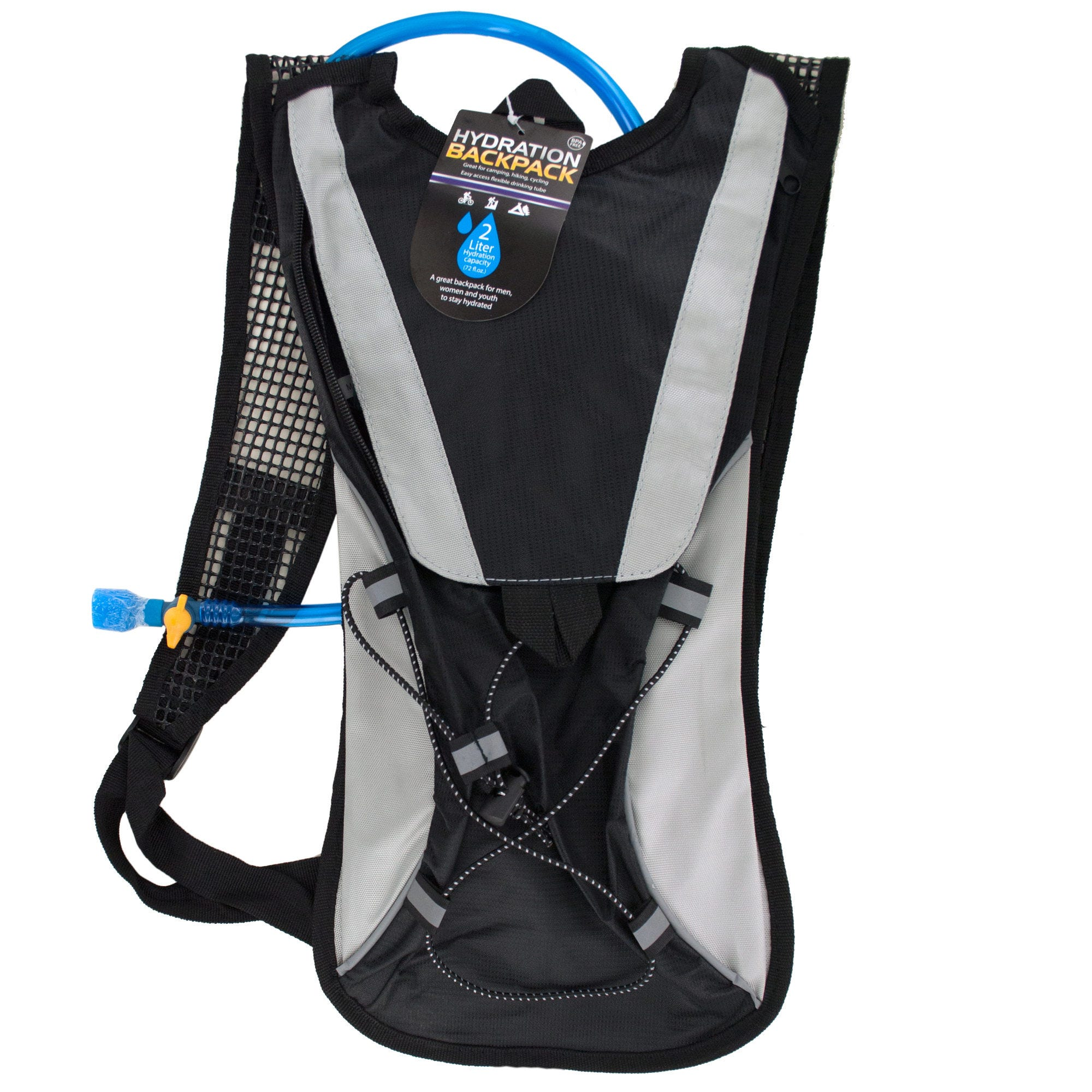 2 Liter Hydration Backpack with Flexible Drinking Tube- Qty 2
