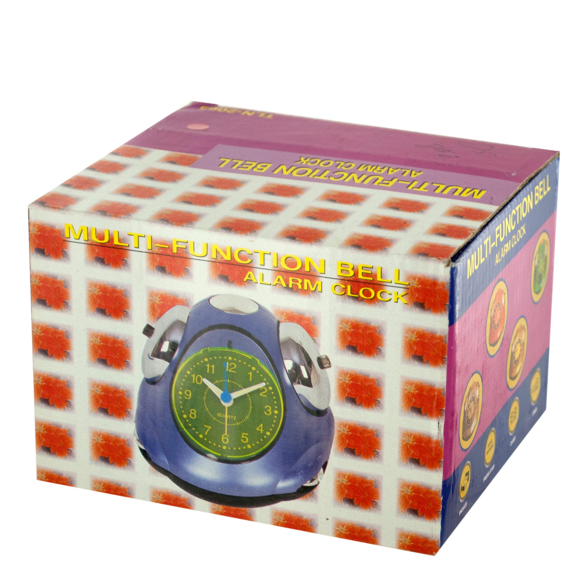 TELEPHONE Style Outer Bell Alarm Clock- Qty 8