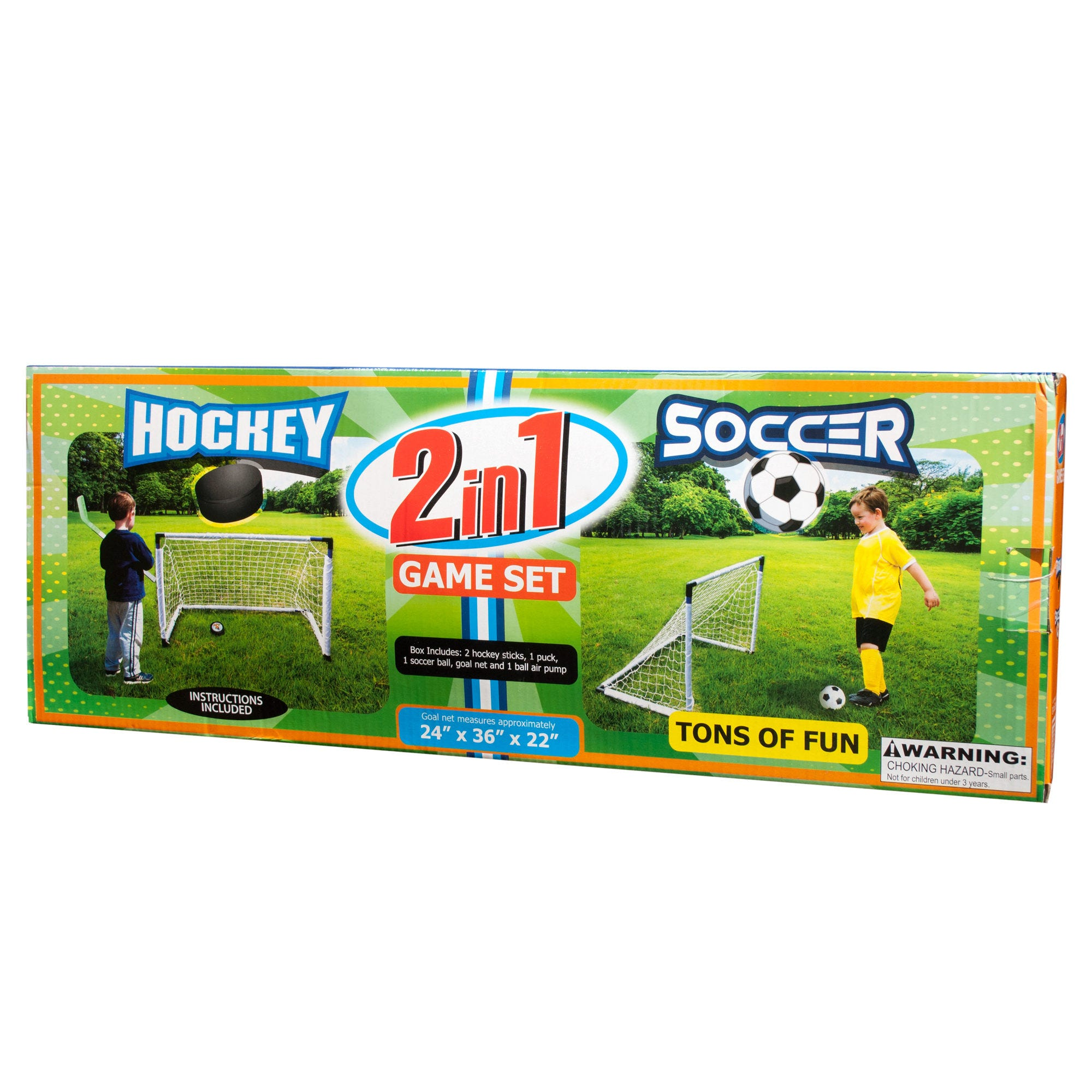 2 in 1 Soccer & HOCKEY Game Set- Qty 4
