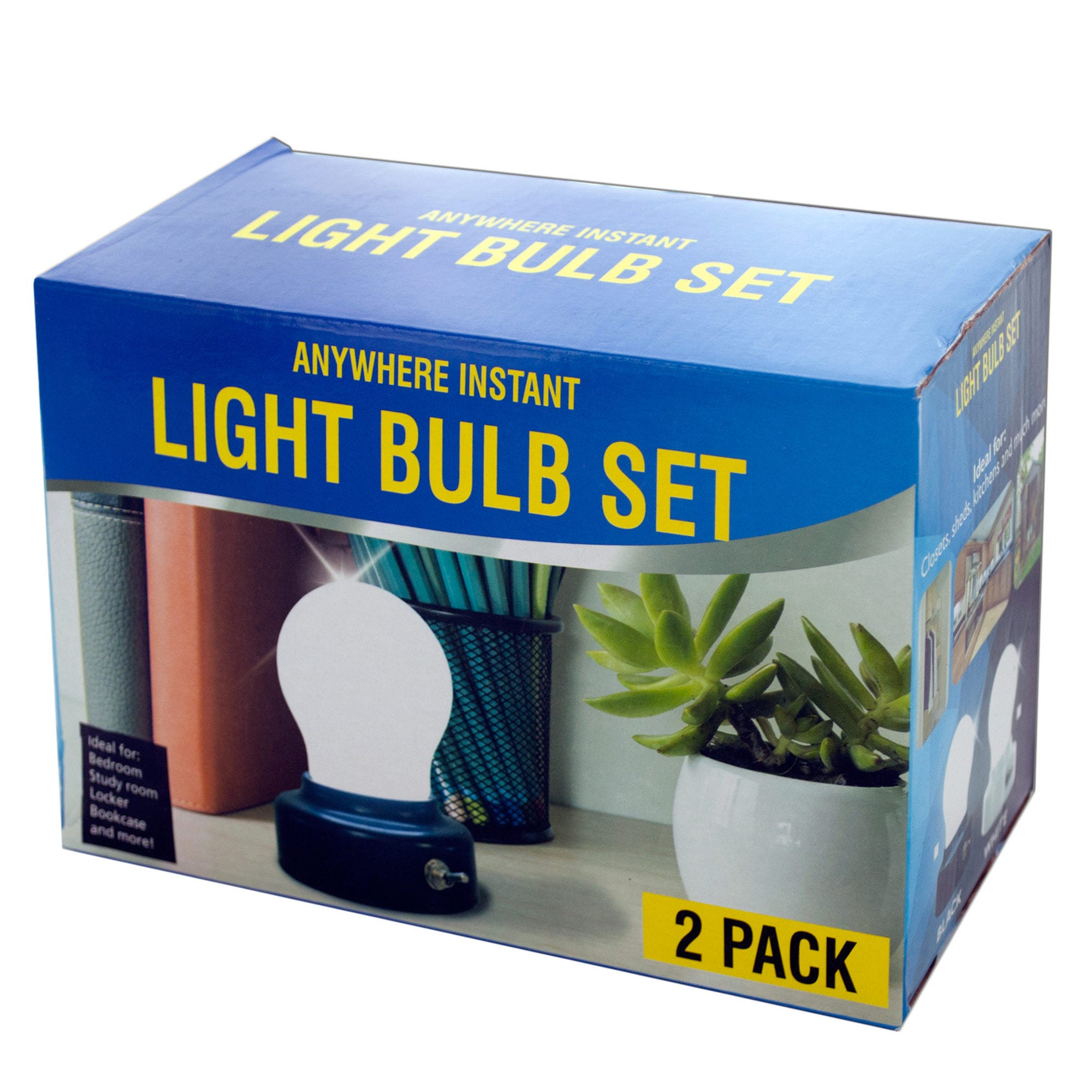 Anywhere Instant LIGHT BULBS with Magnetic Bases- Qty 6