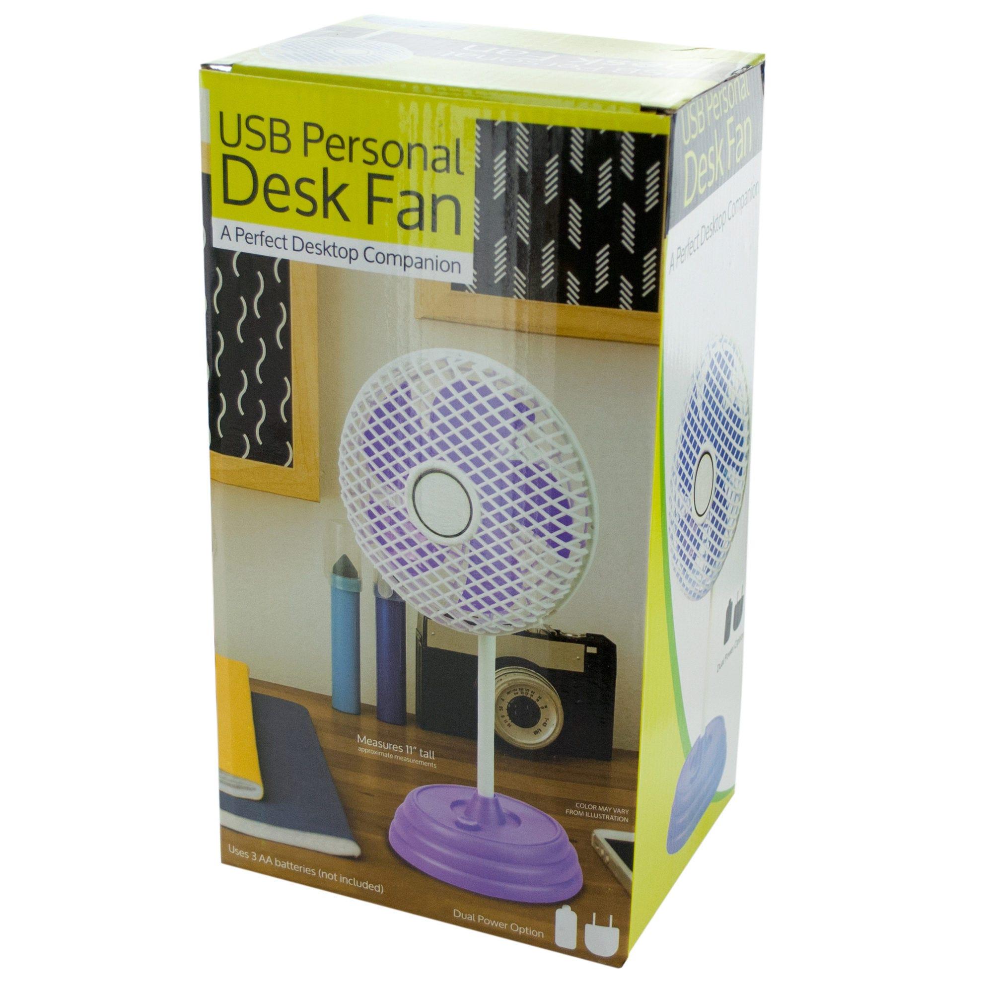 Classic Design USB Personal Desk Fan- Qty 4