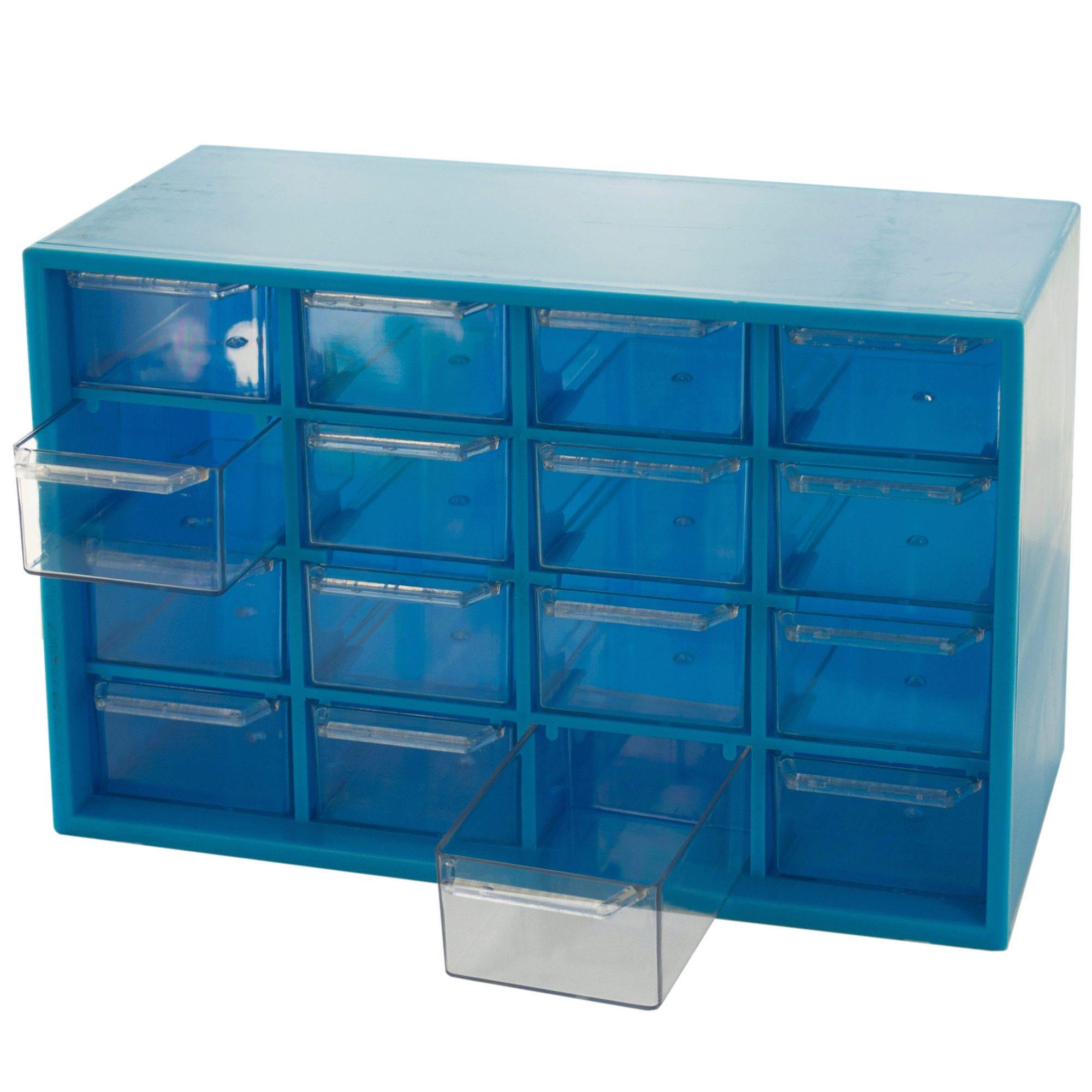 Multi-Purpose Hardware Storage Box with 16 Bins- Qty 4