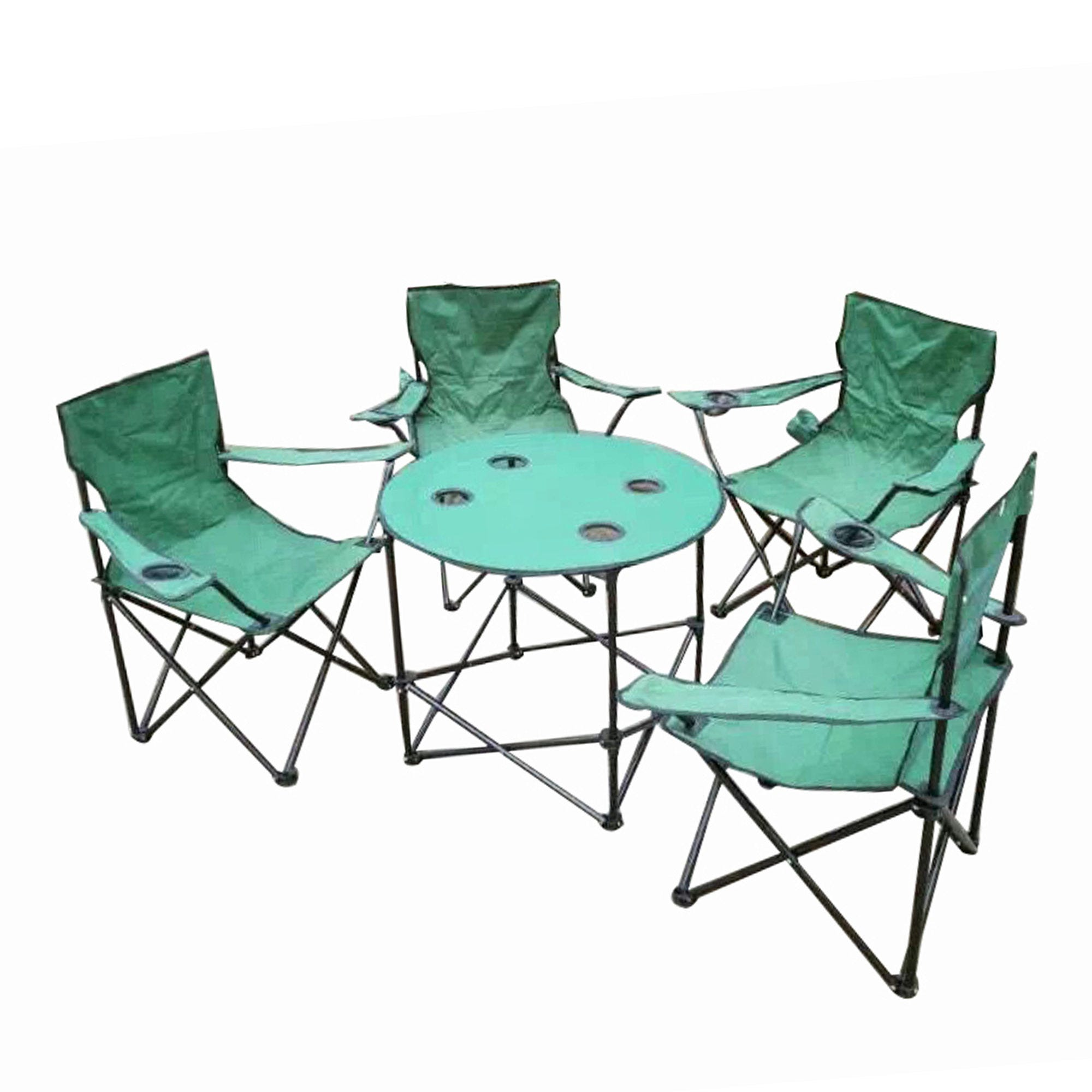 Folding Camping Table & Chairs Set with Carry Bag- Qty 1