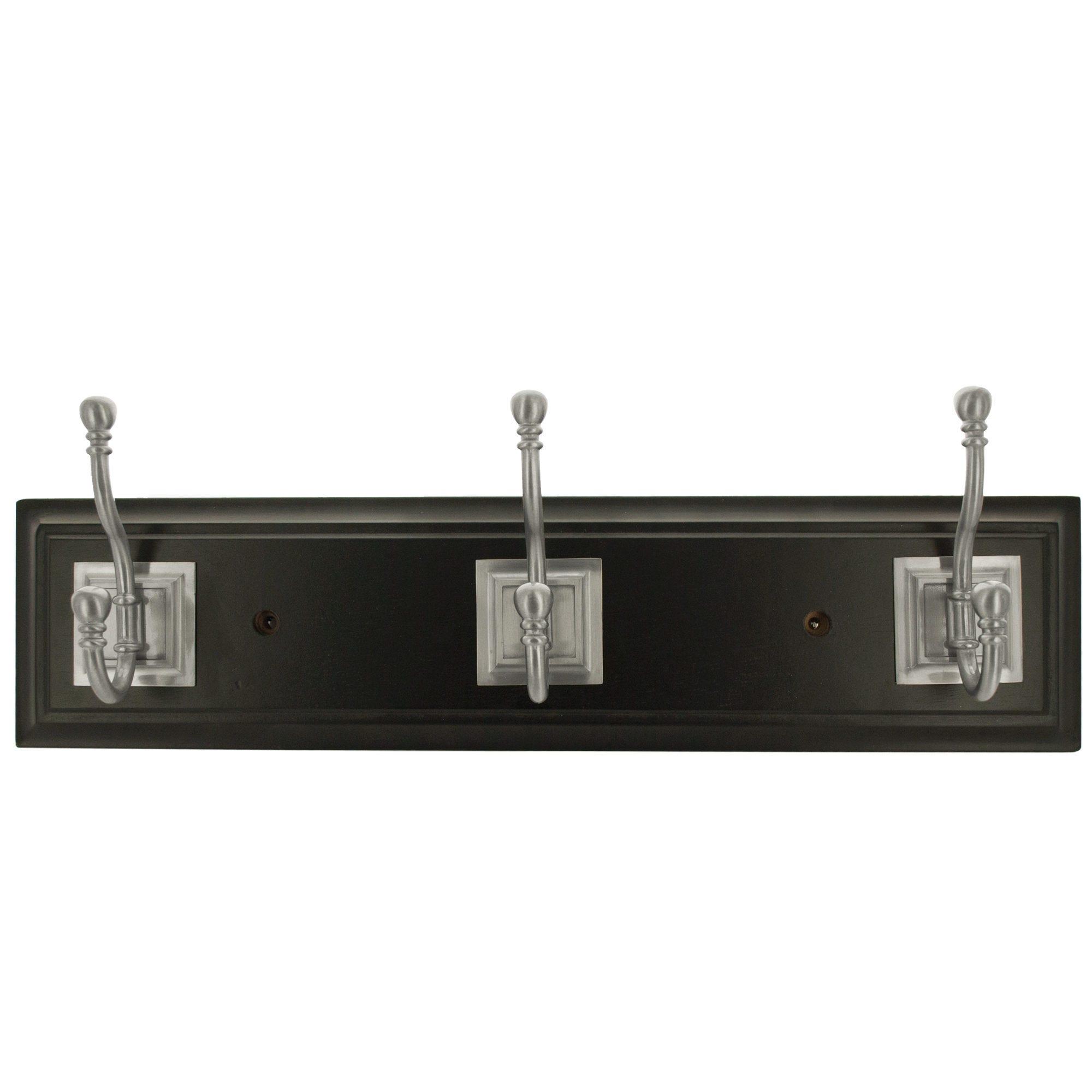 Franklin Brass Black & Satin Nickel Architectural Hook Rail- Qty 4