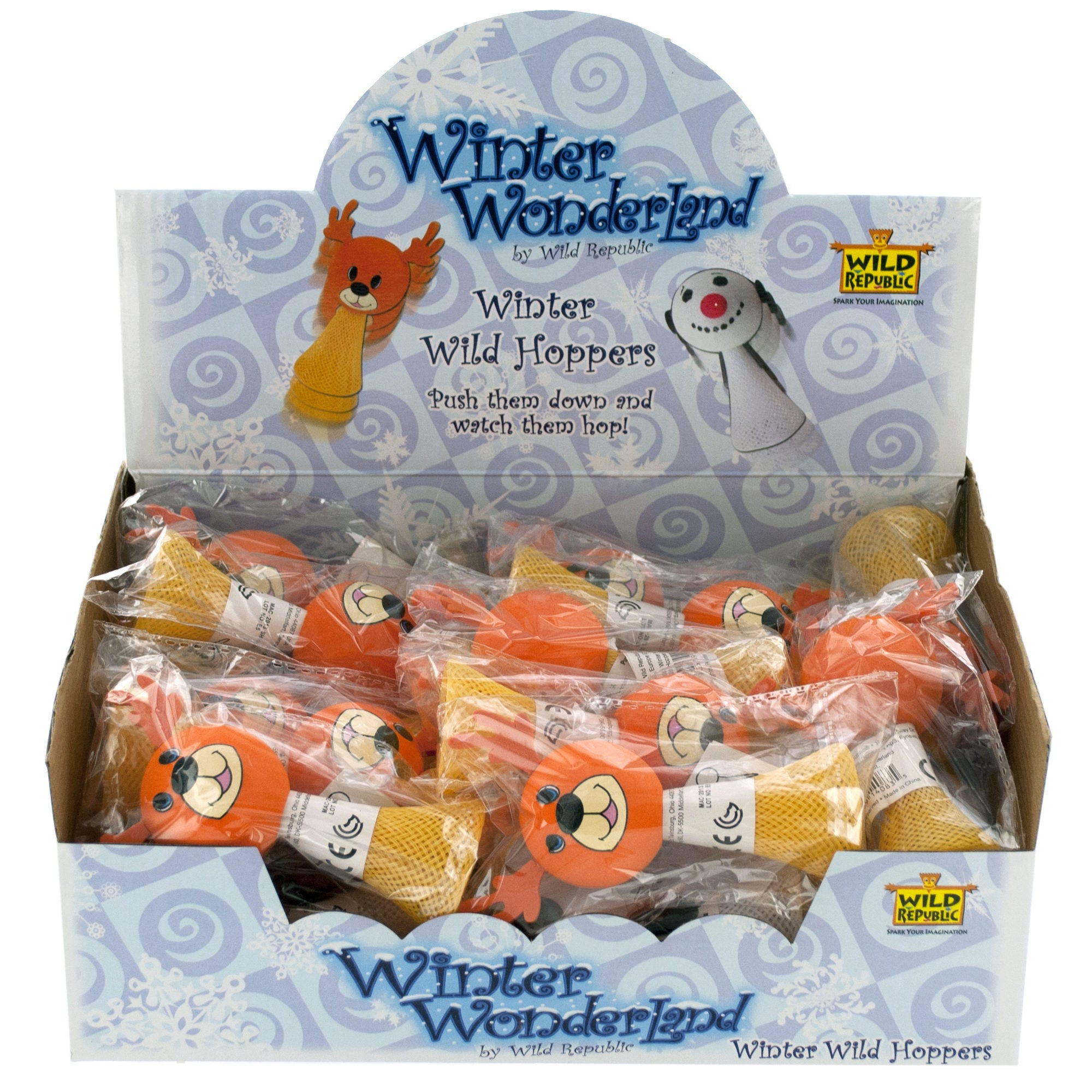 HOLIDAY Winter Wild Hoppers Toy Countertop Display- Qty 24