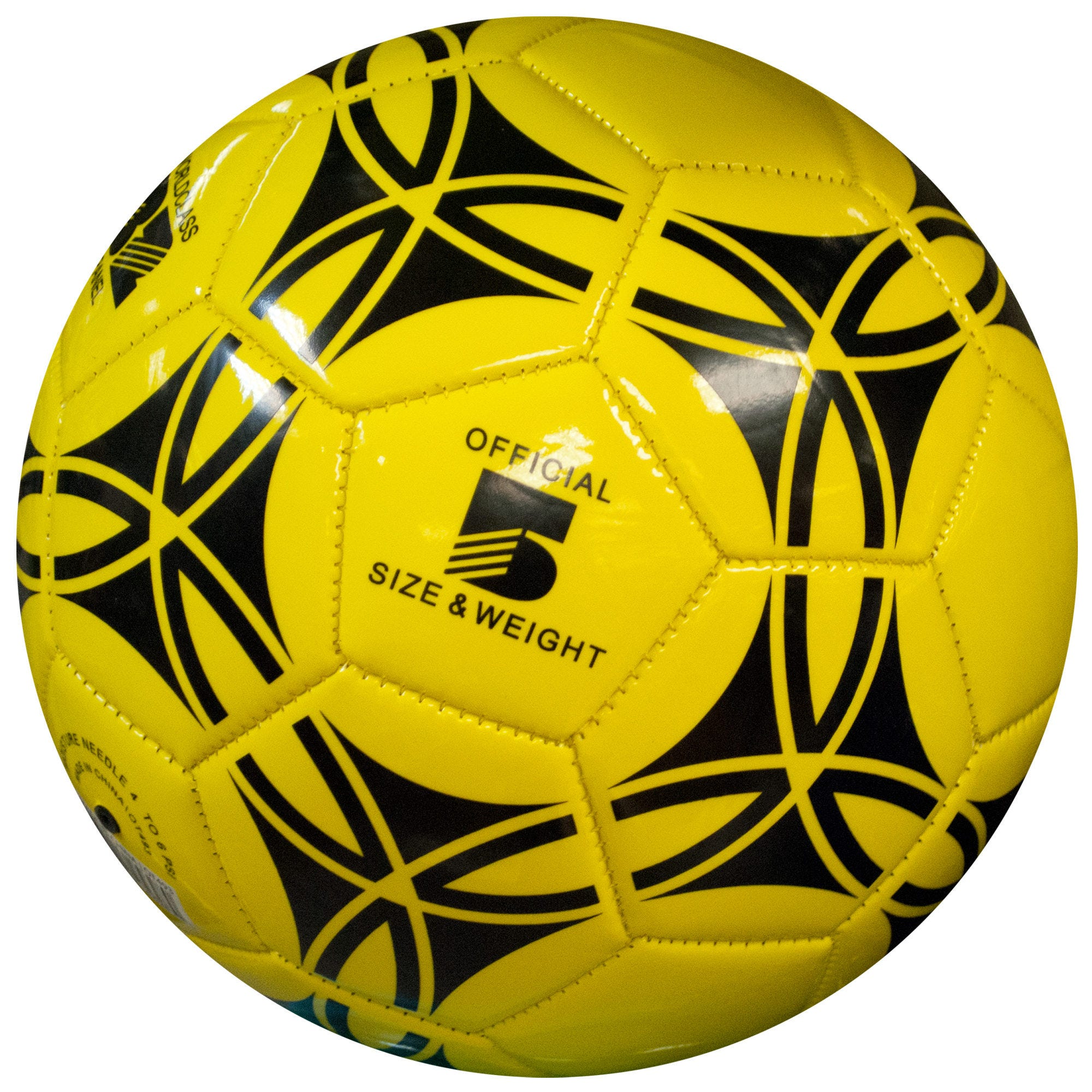 Size 5 Glossy Patterned Soccer Ball- Qty 4