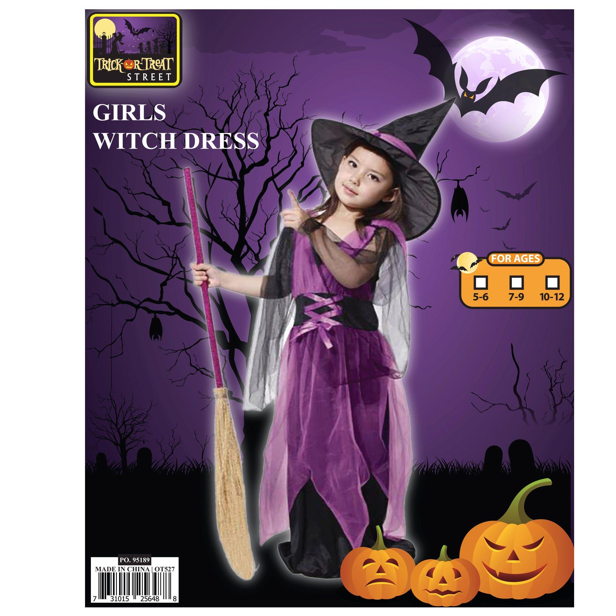 Girls Witch DRESS + Hat- Qty 4