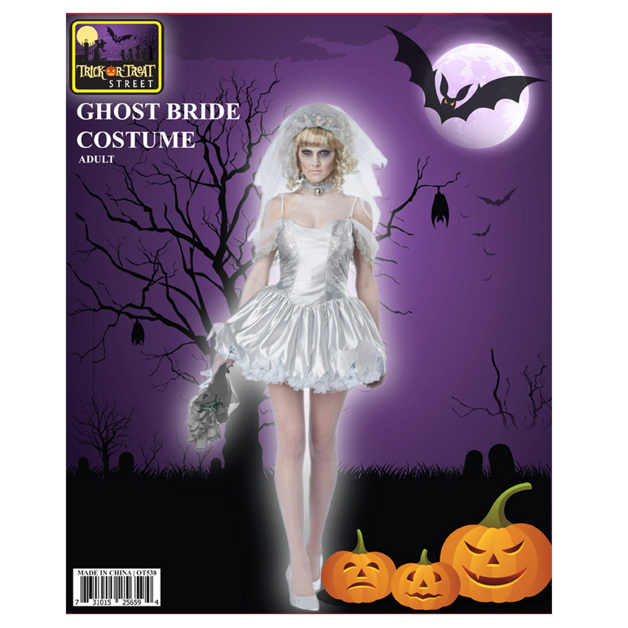 Ghost Bride DRESS + Headband Costume