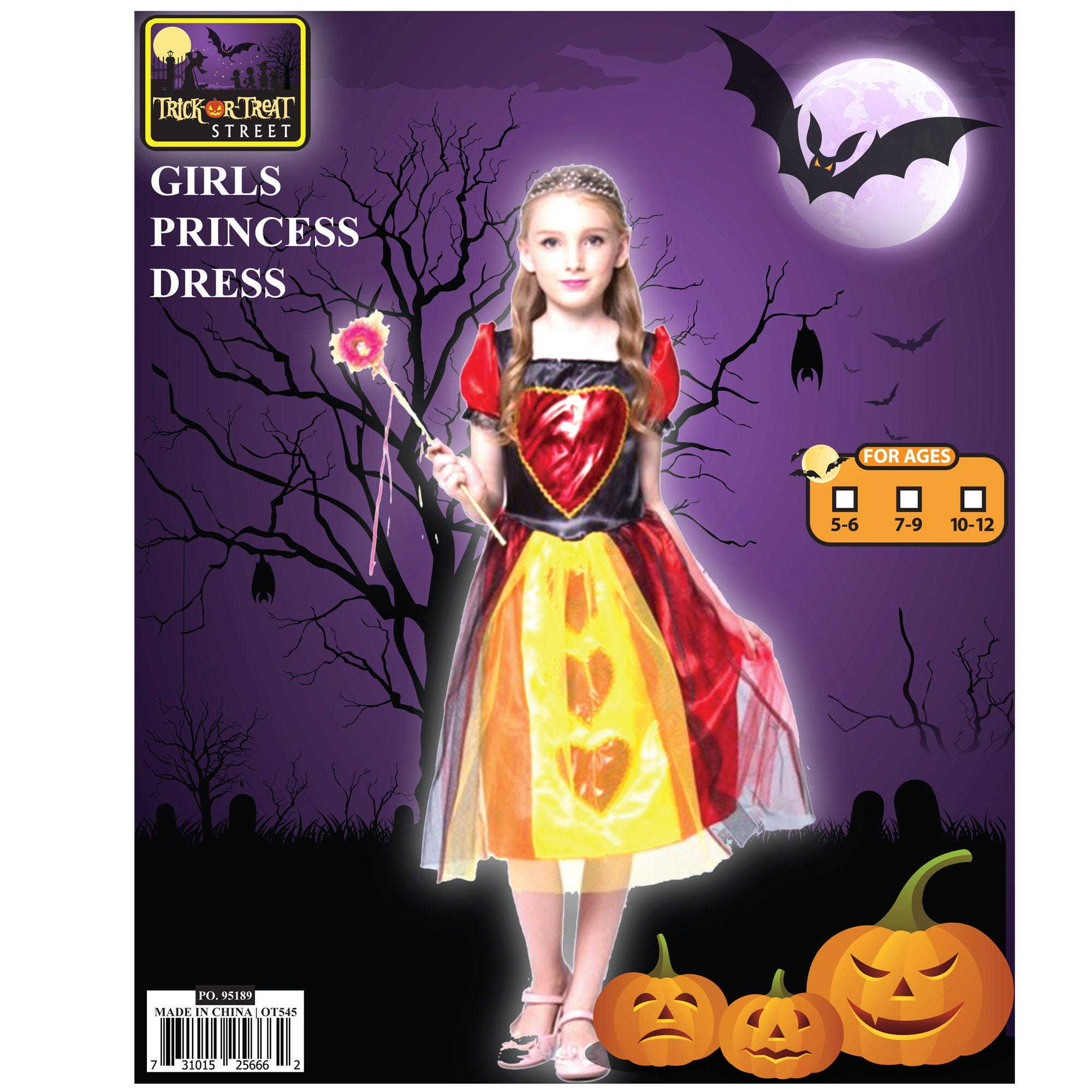 Girls Princess DRESS Only Costume- Qty 4