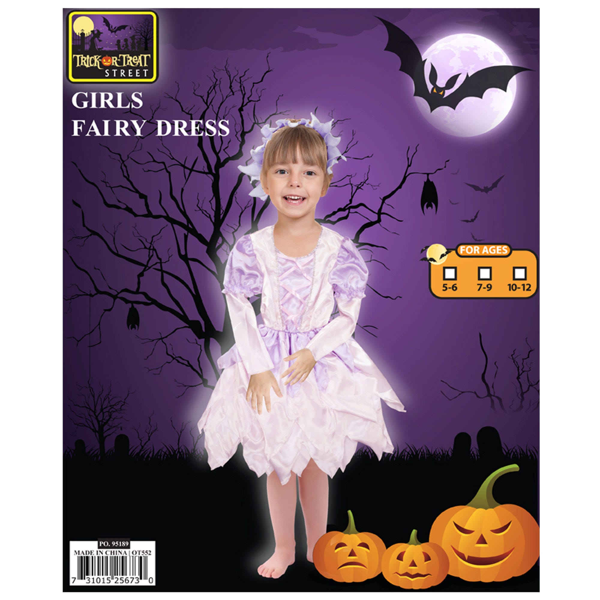 Girls Fairy Headbands + DRESS Costume- Qty 2