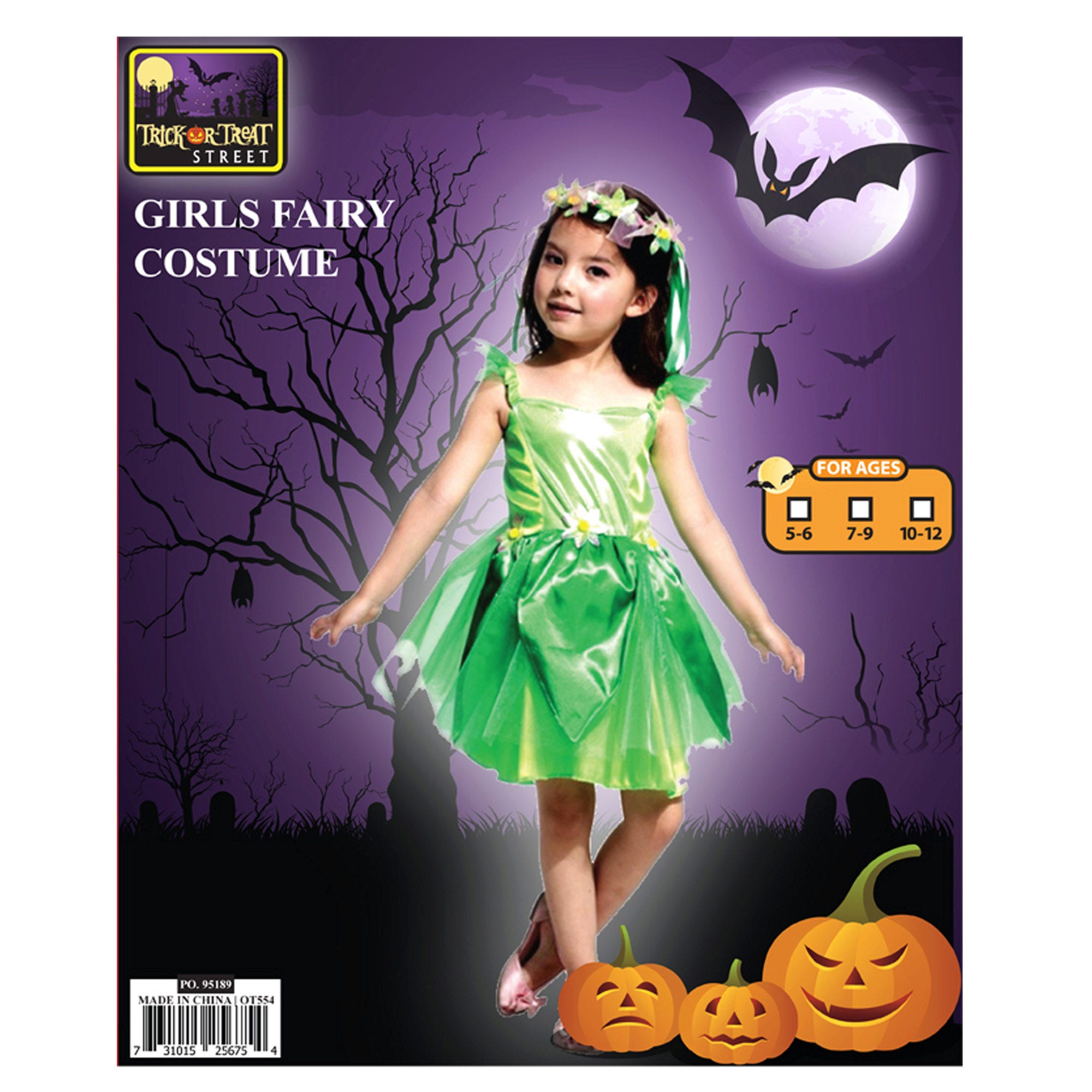 Flower Fairy DRESS + Headwear Costume - Qty 4